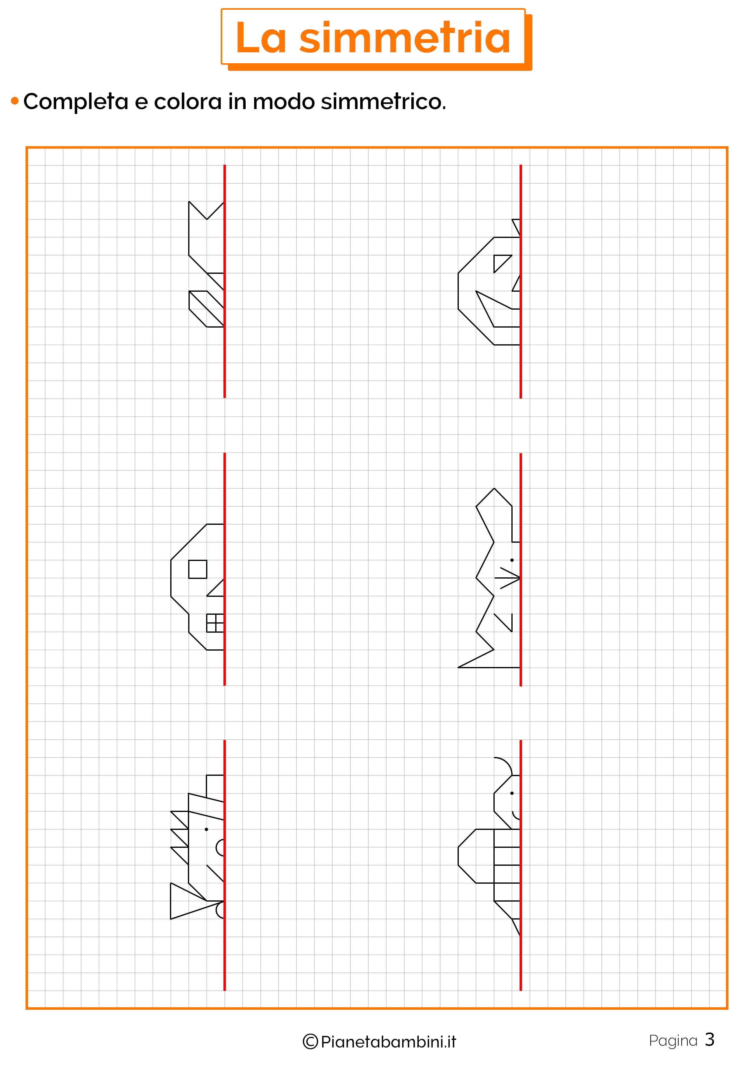 Schede didattiche sulla simmetria 3