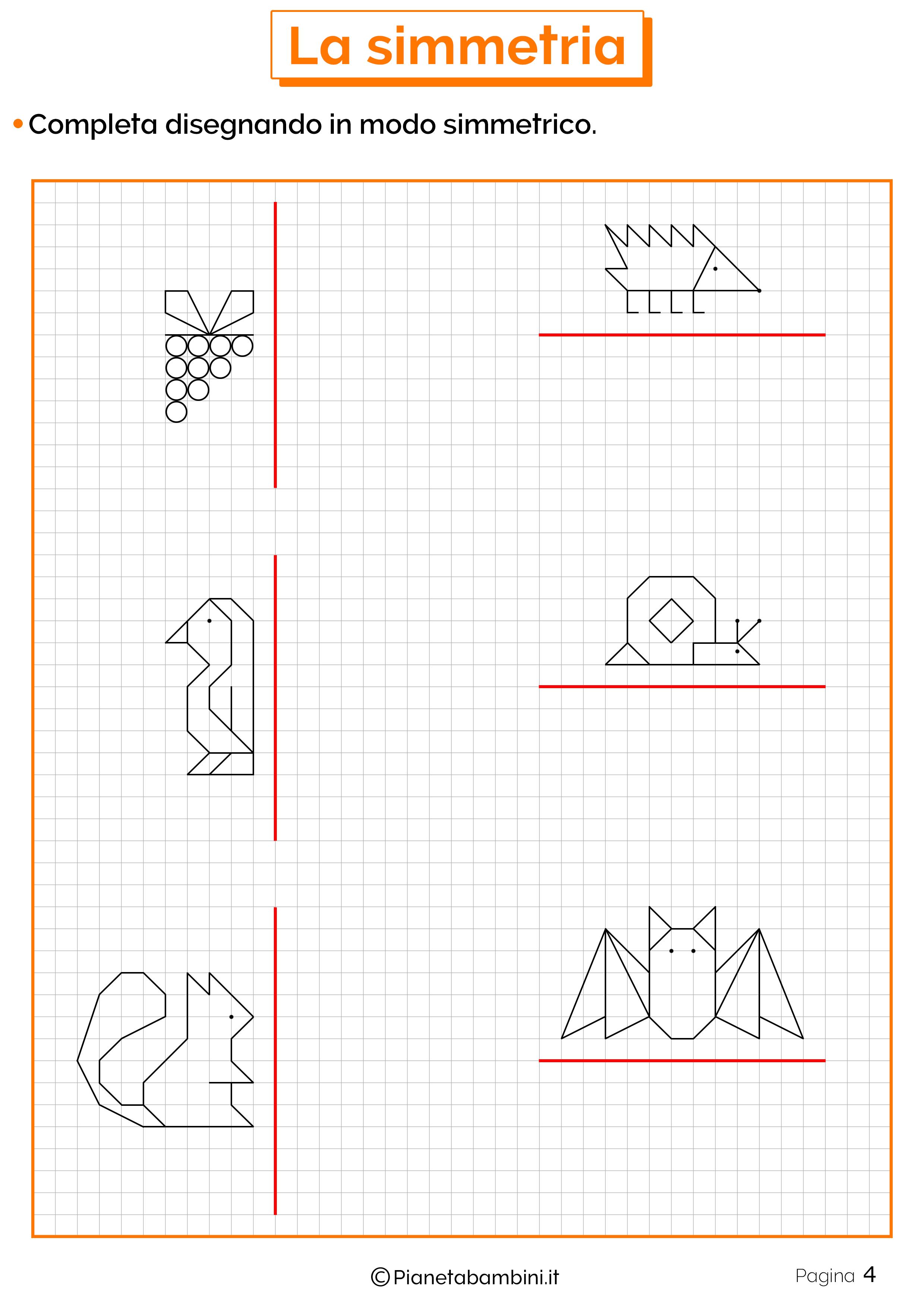 Schede didattiche sulla simmetria 4