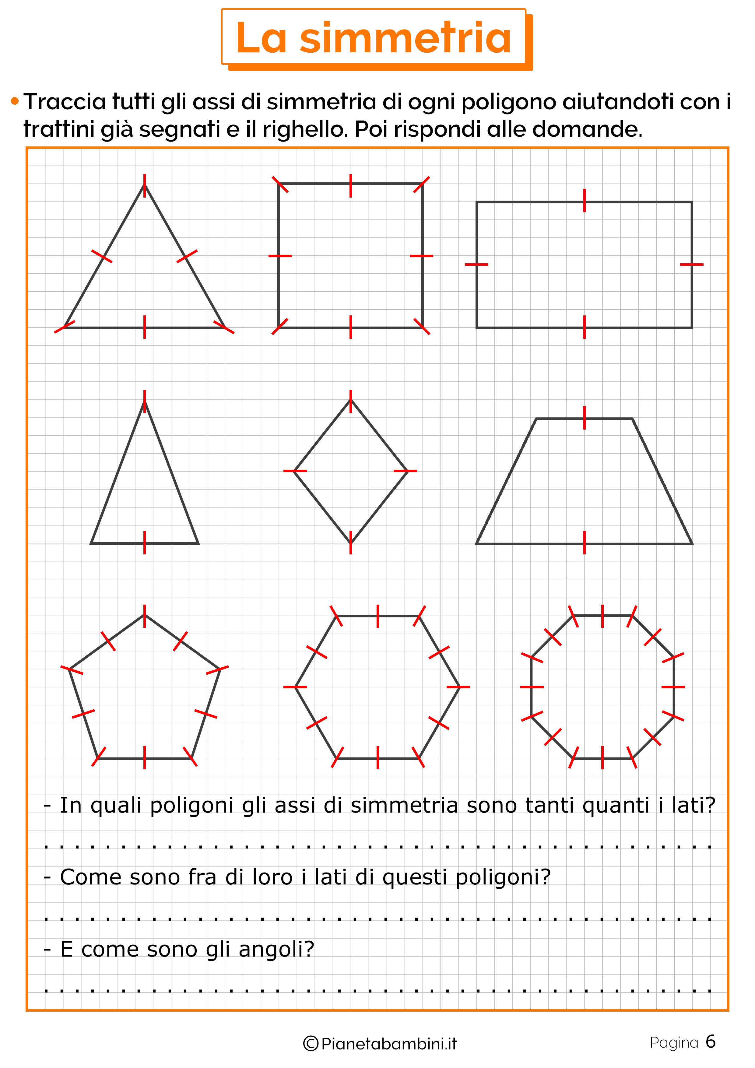 Schede didattiche sulla simmetria 6