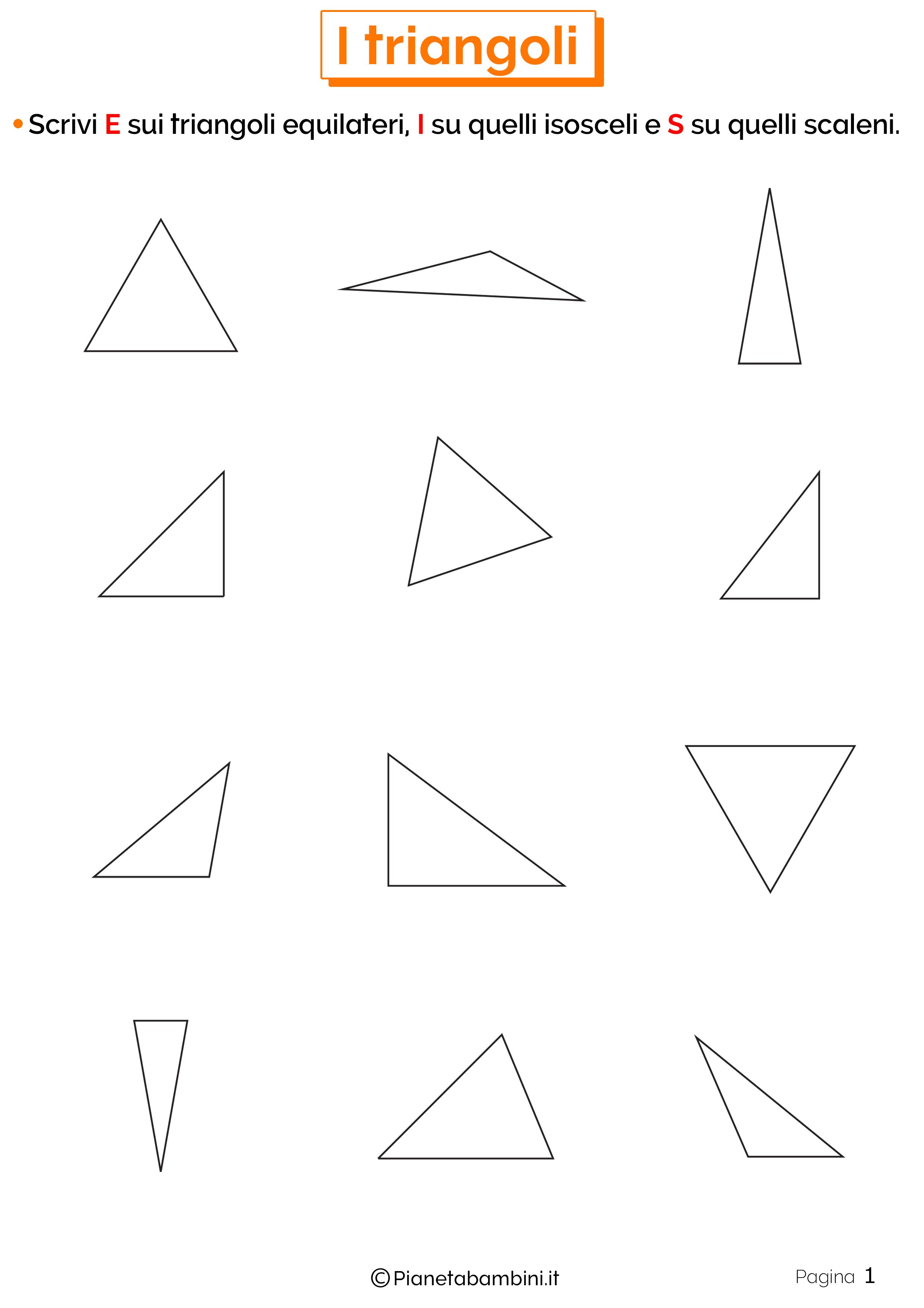 Schede didattiche sui triangoli 1