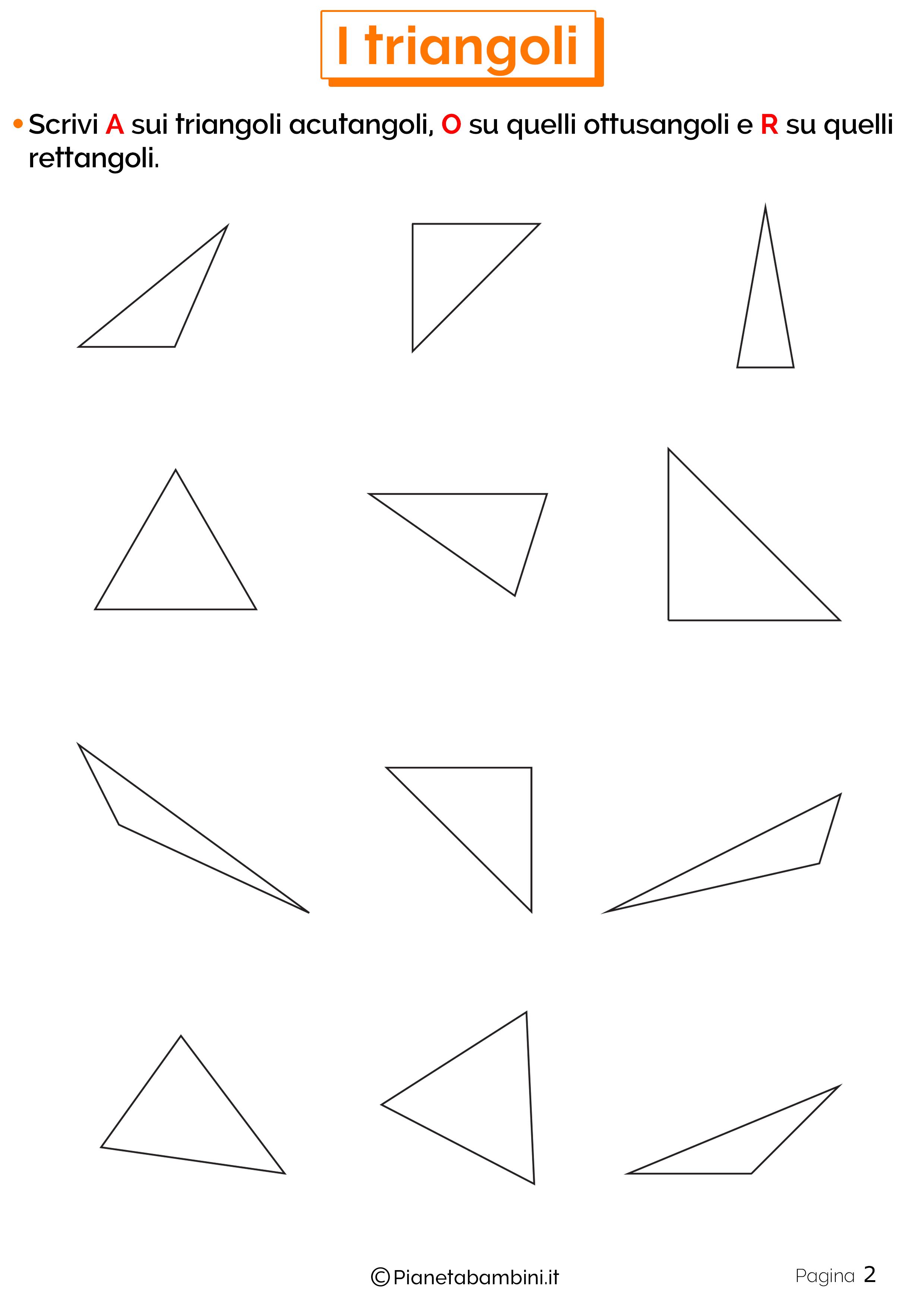 Schede didattiche sui triangoli 2