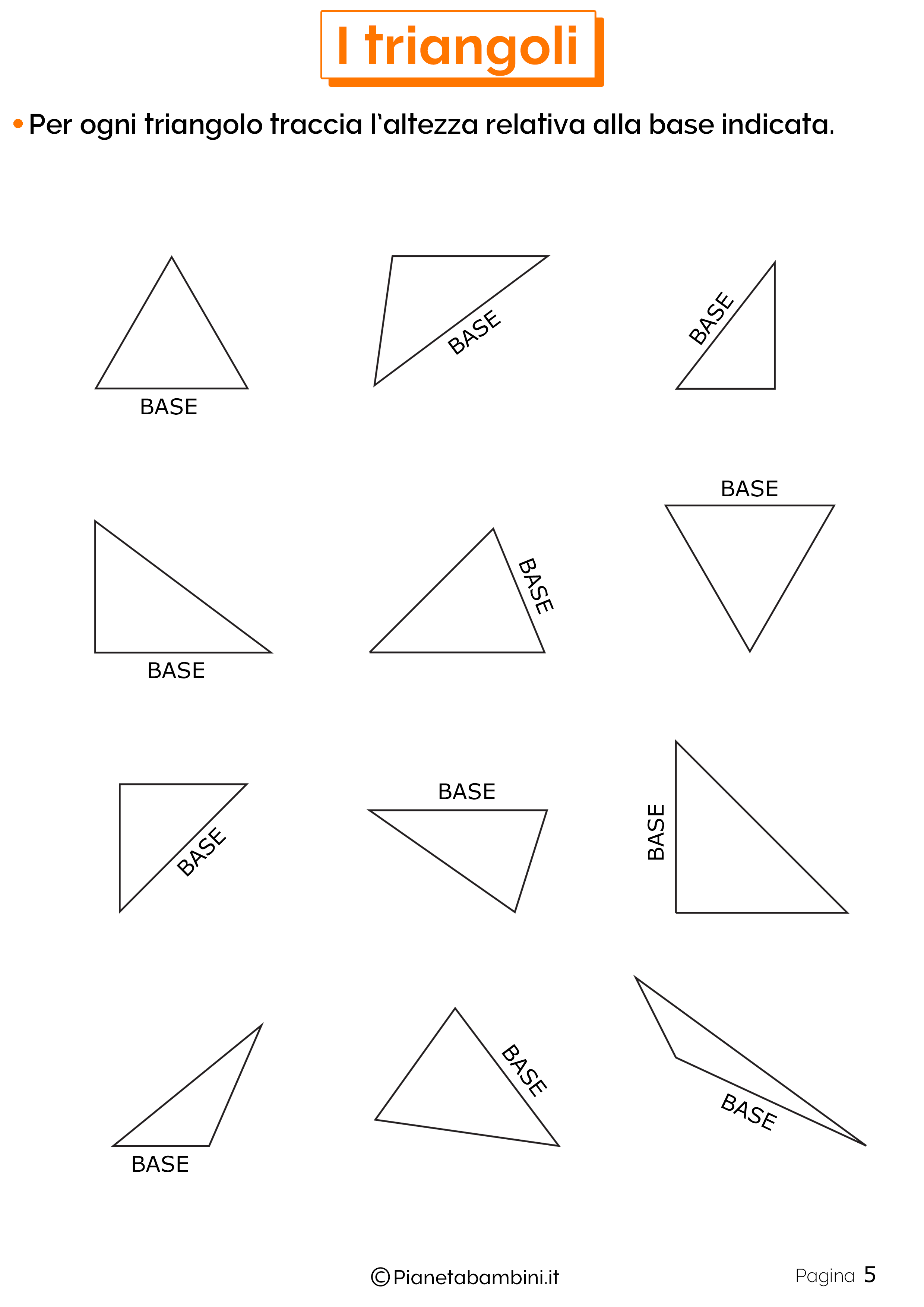 Schede didattiche sui triangoli 5