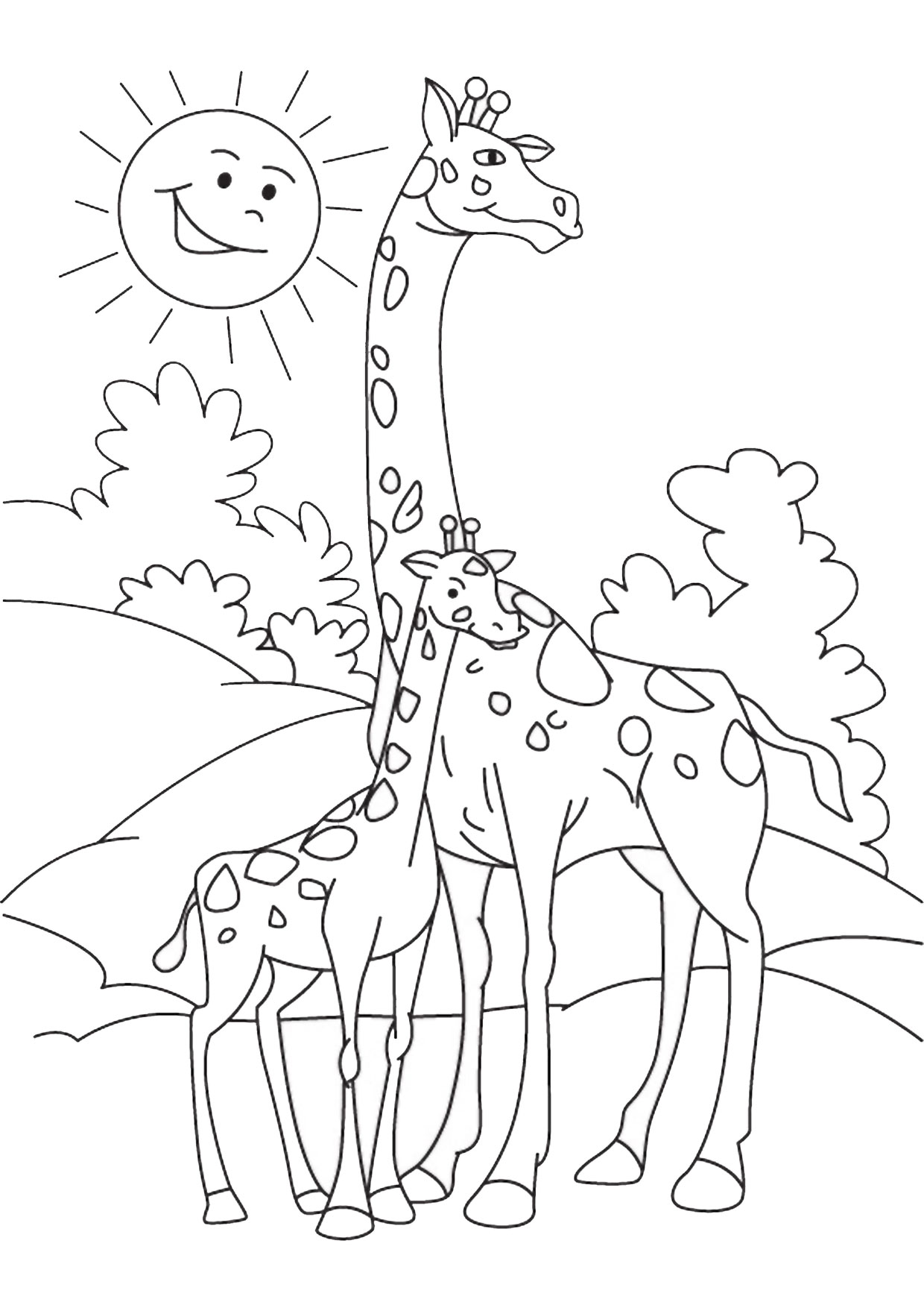 Giraffa in versione cartoon 01