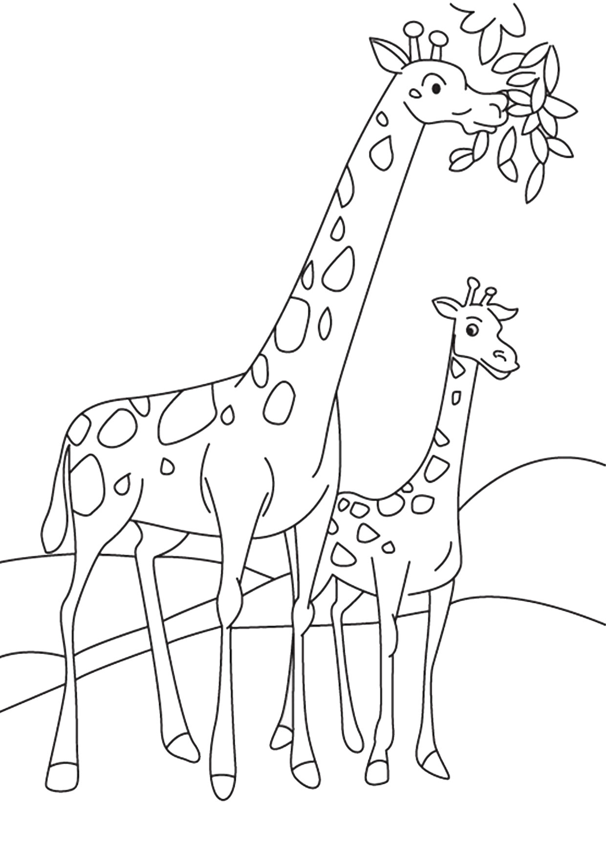 Giraffa in versione cartoon 02