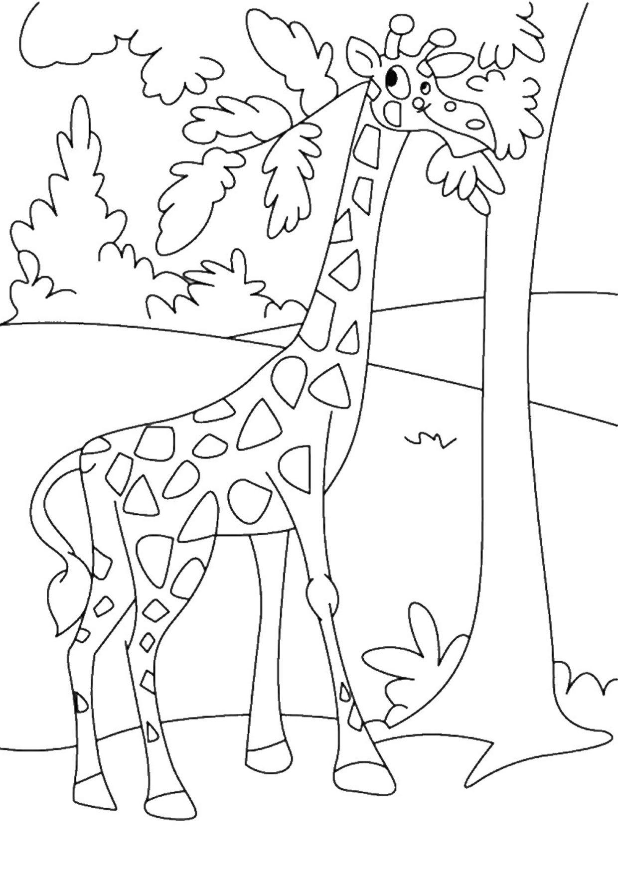 Giraffa in versione cartoon 05
