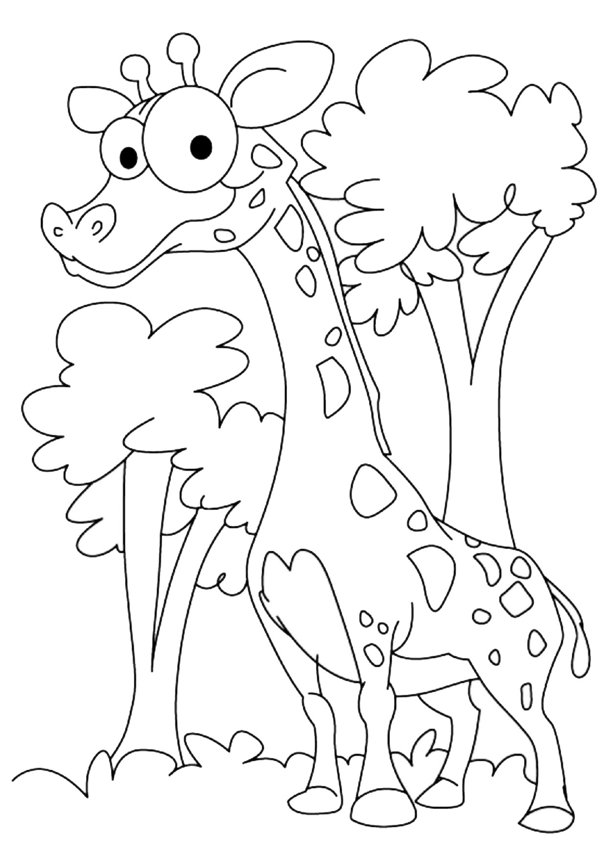 Giraffa in versione cartoon 07
