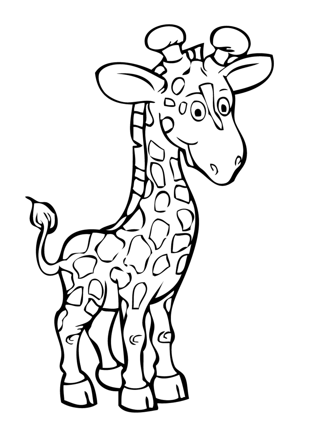 Giraffa in versione cartoon 08