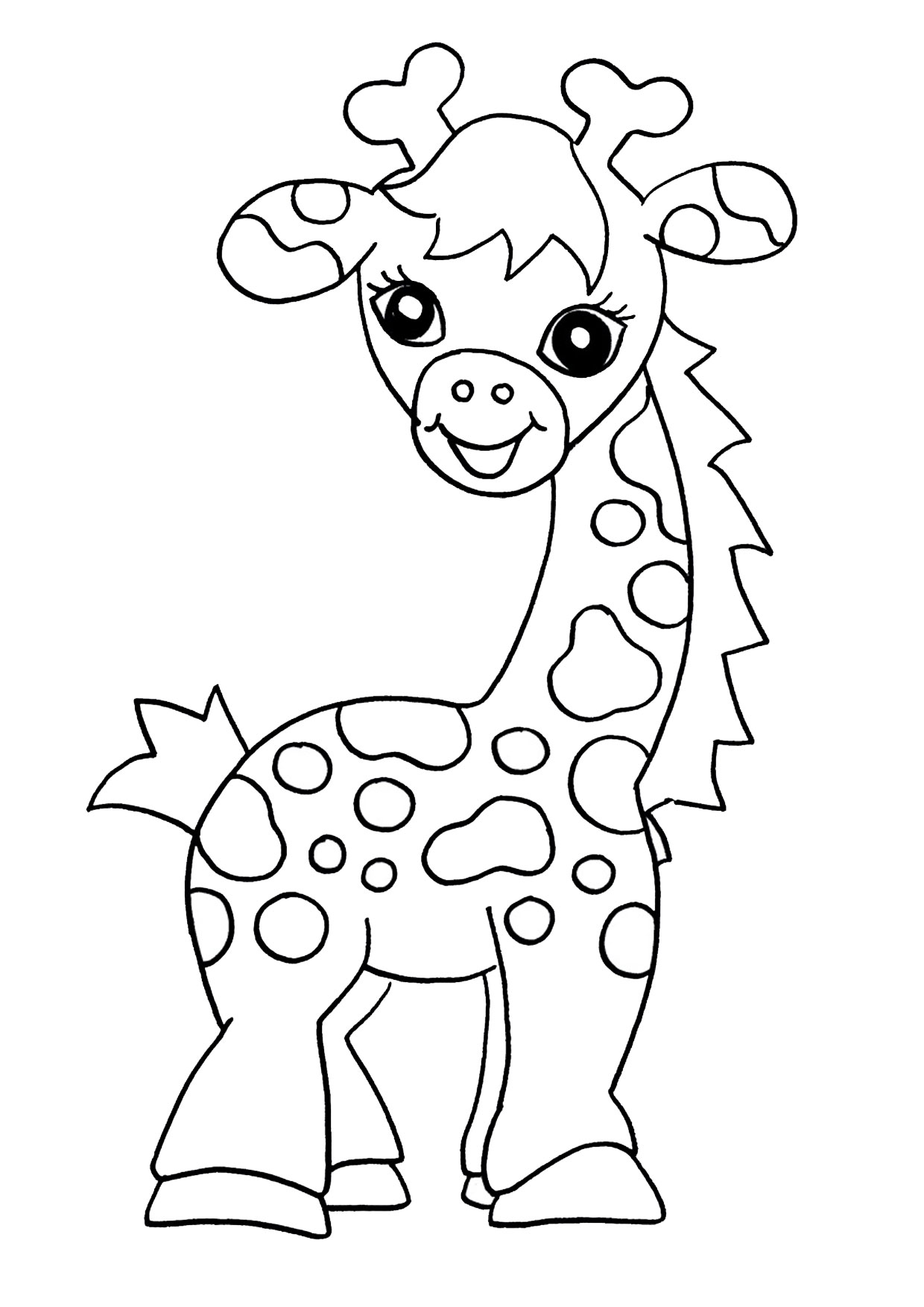 Giraffa in versione cartoon 09