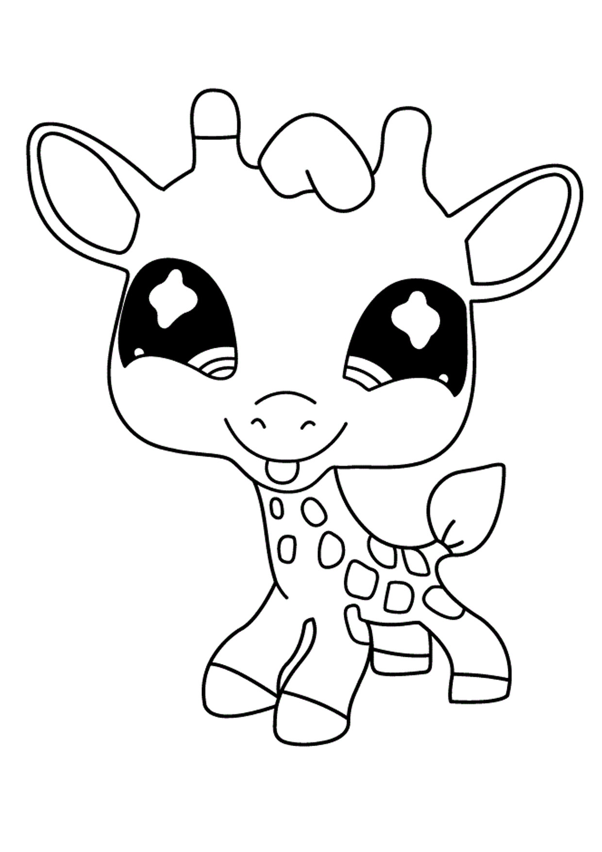 Giraffa in versione cartoon 11