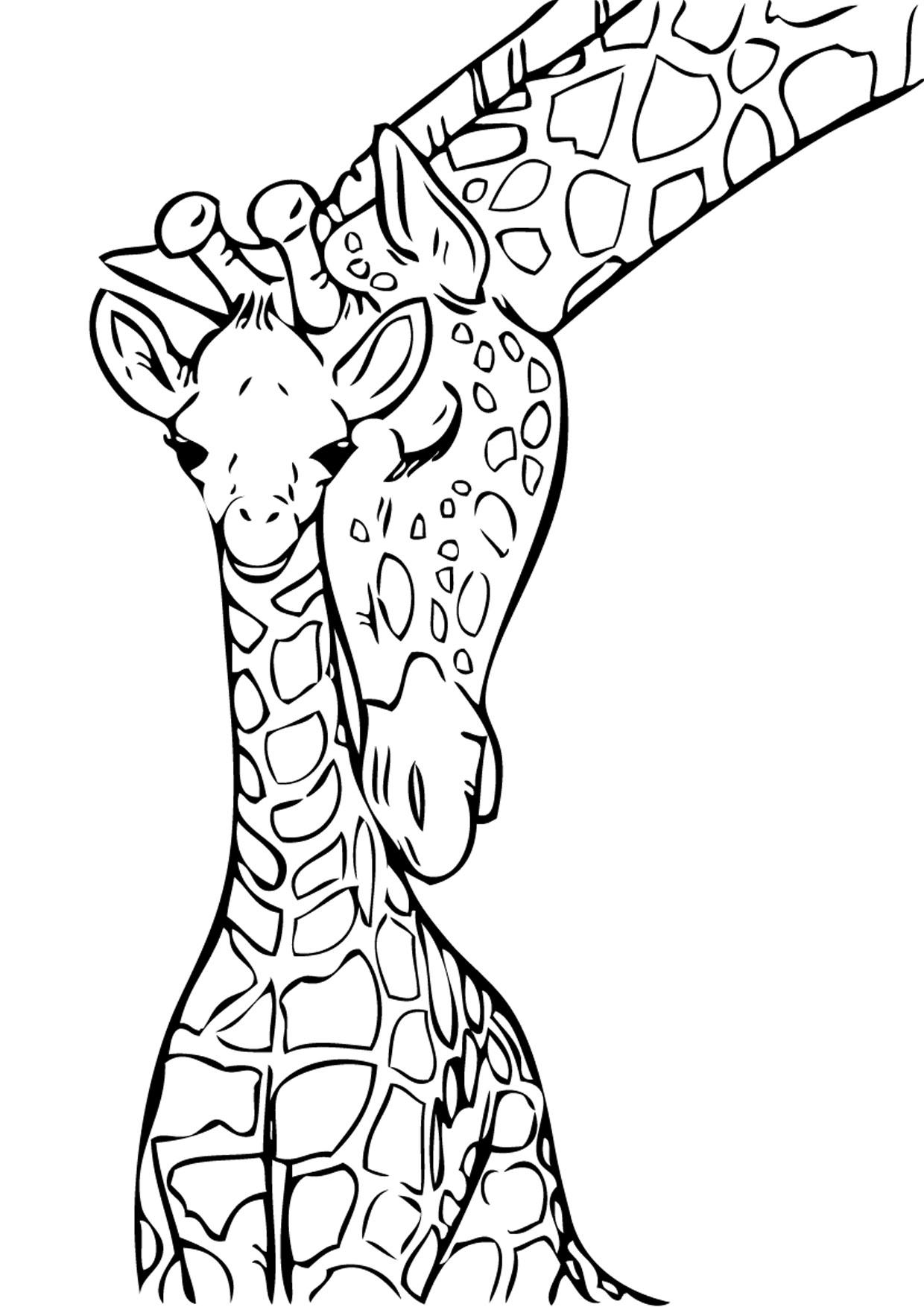 Disegno di giraffa 03