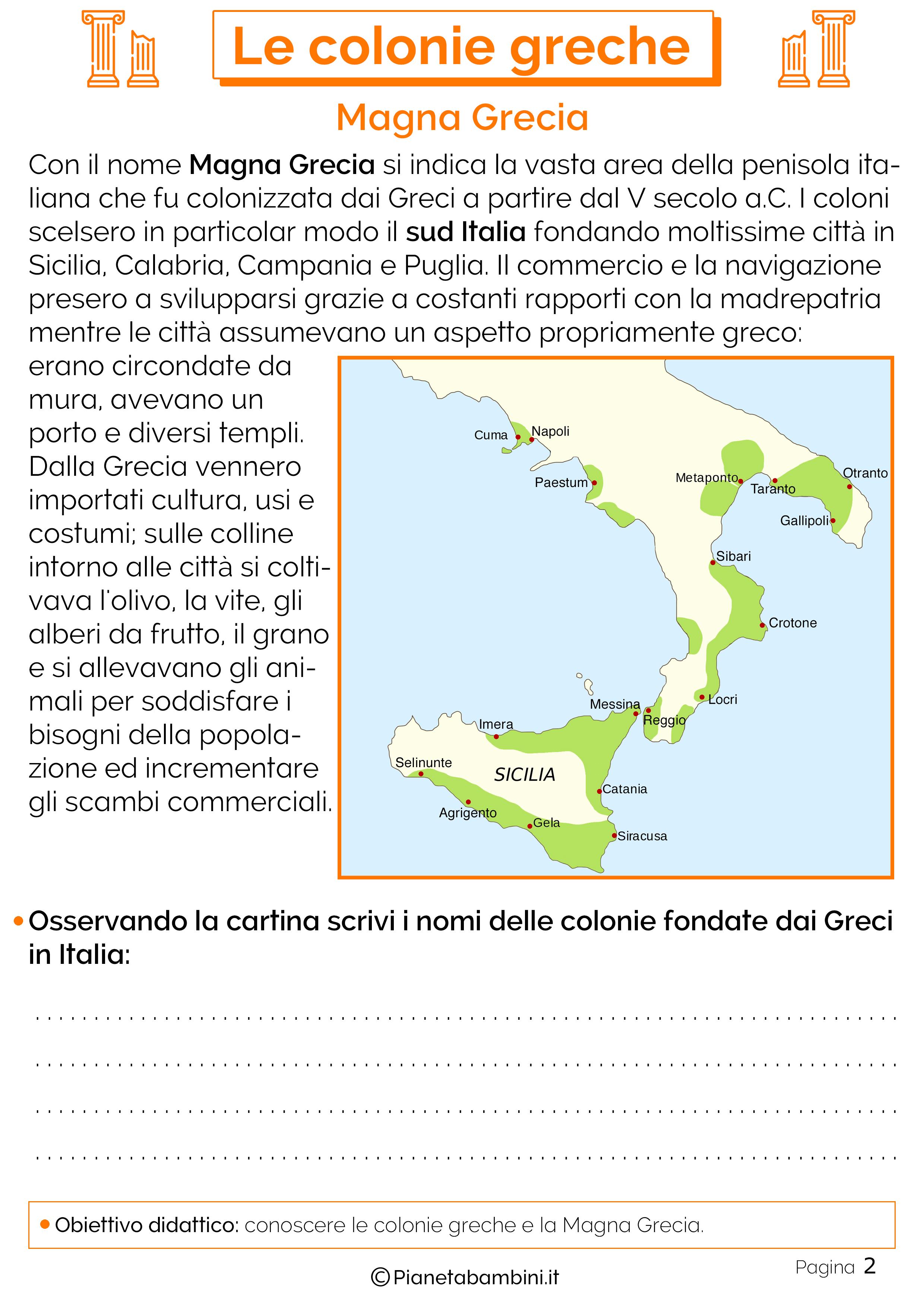 Le colonie della Magna Grecia