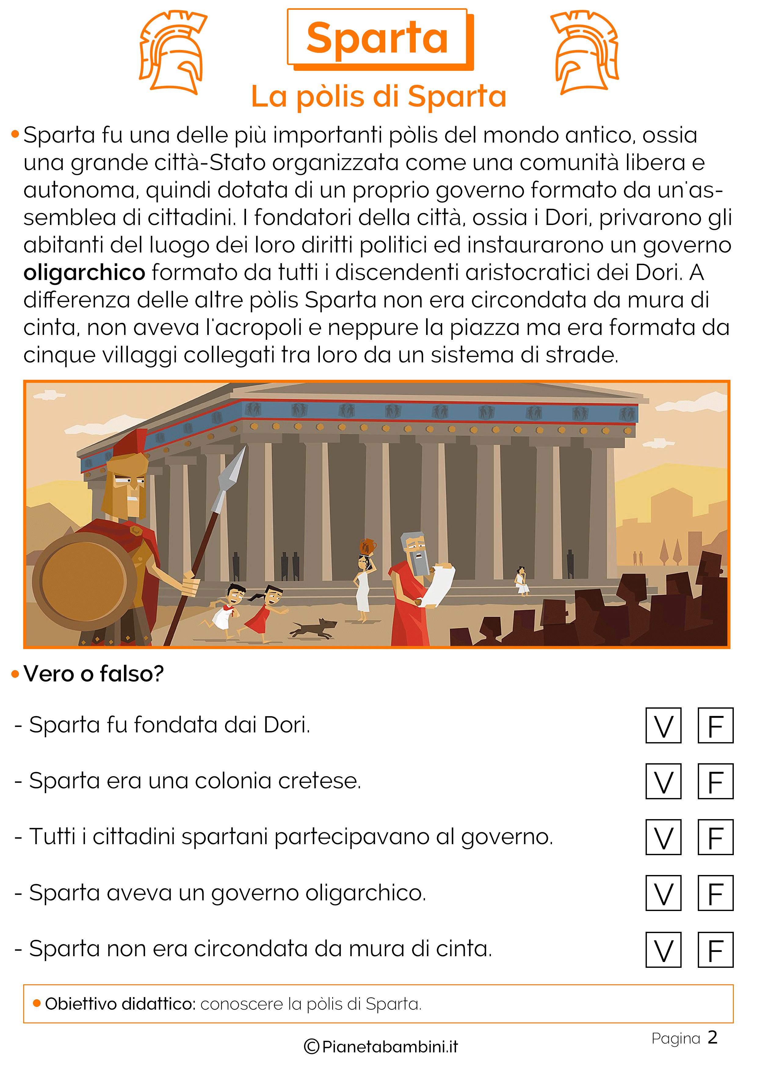 La pòlis di Sparta
