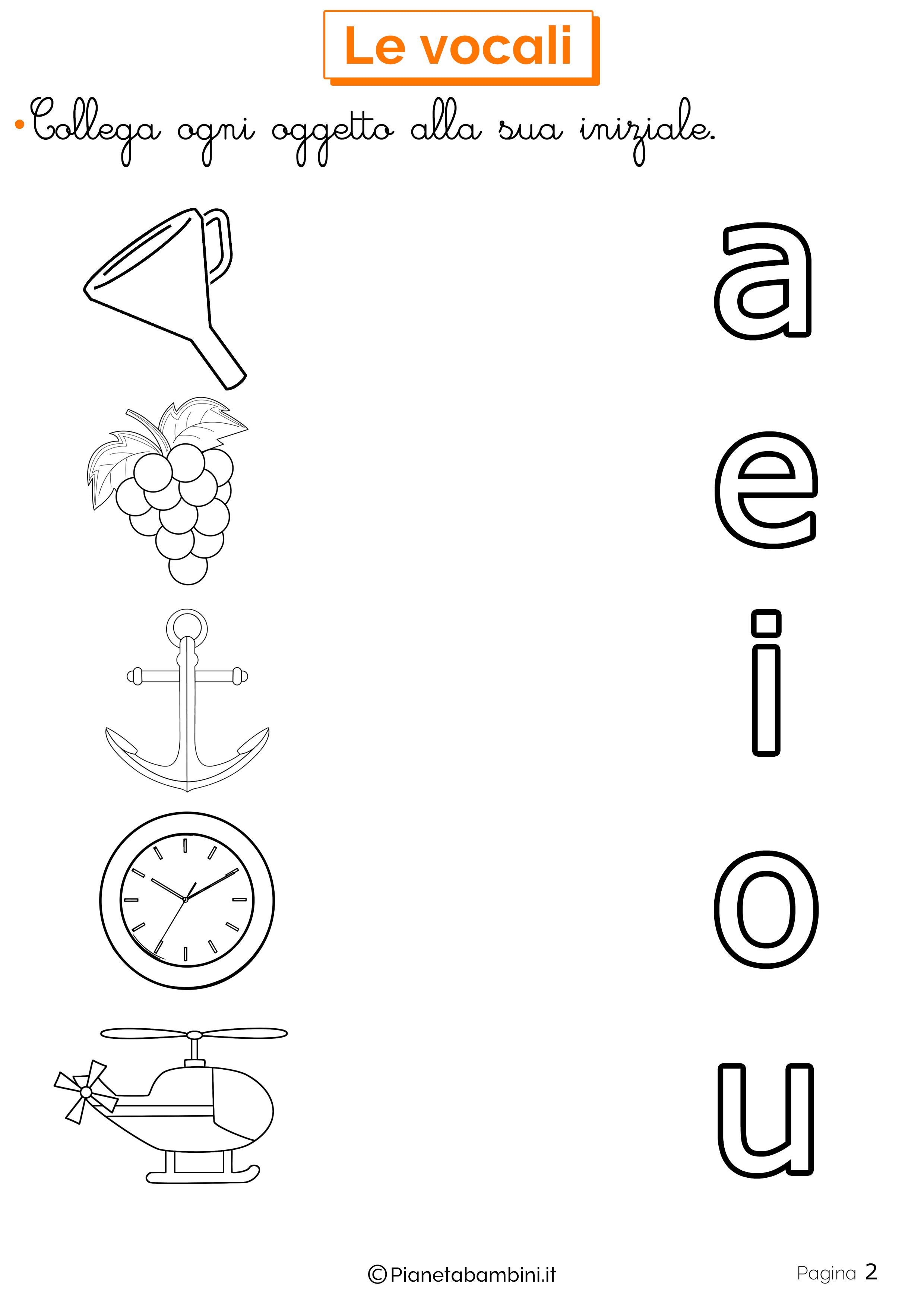 Esercizi sulle vocali 2
