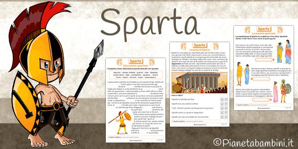 Schede didattiche su Sparta da stampare gratis