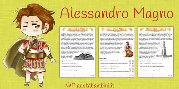 Schede didattiche su Alessandro Magno e i macedoni da stampare gratis