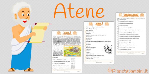 Schede didattiche su Atene per la scuola primaria da stampare gratis