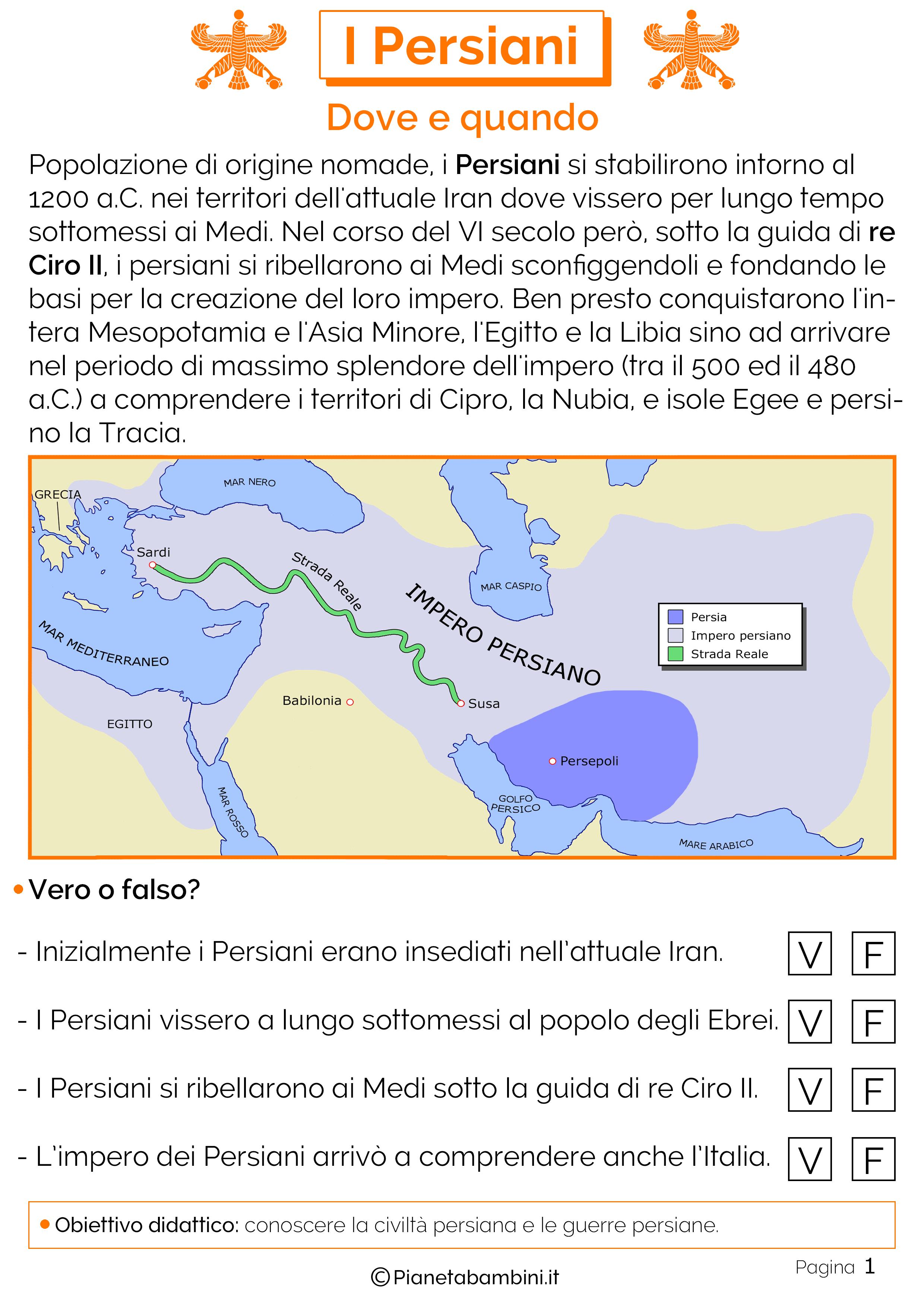 I Persiani Schede Didattiche Per La Scuola Primaria Pianetabambiniit