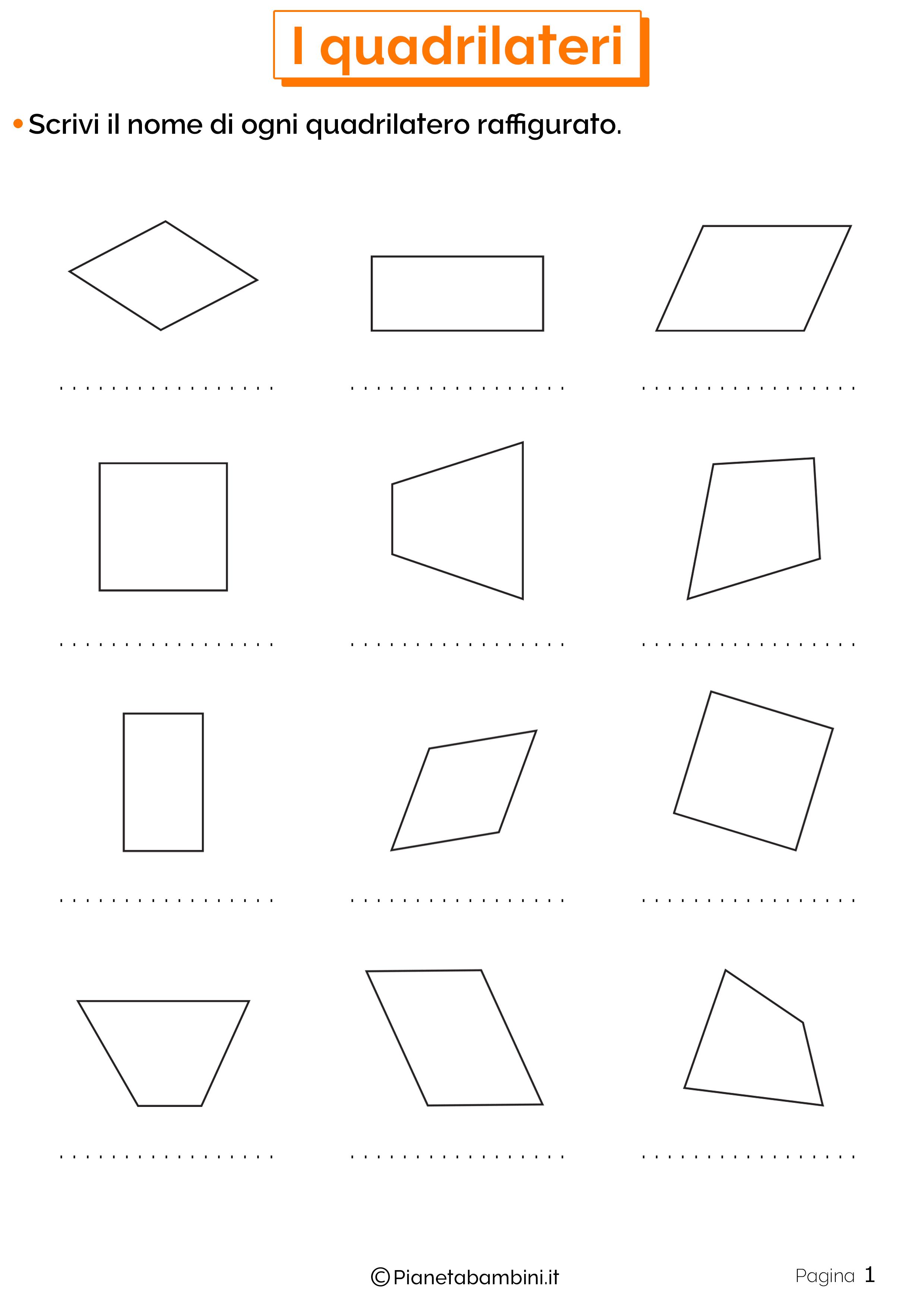 Schede didattiche sui quadrilateri 1
