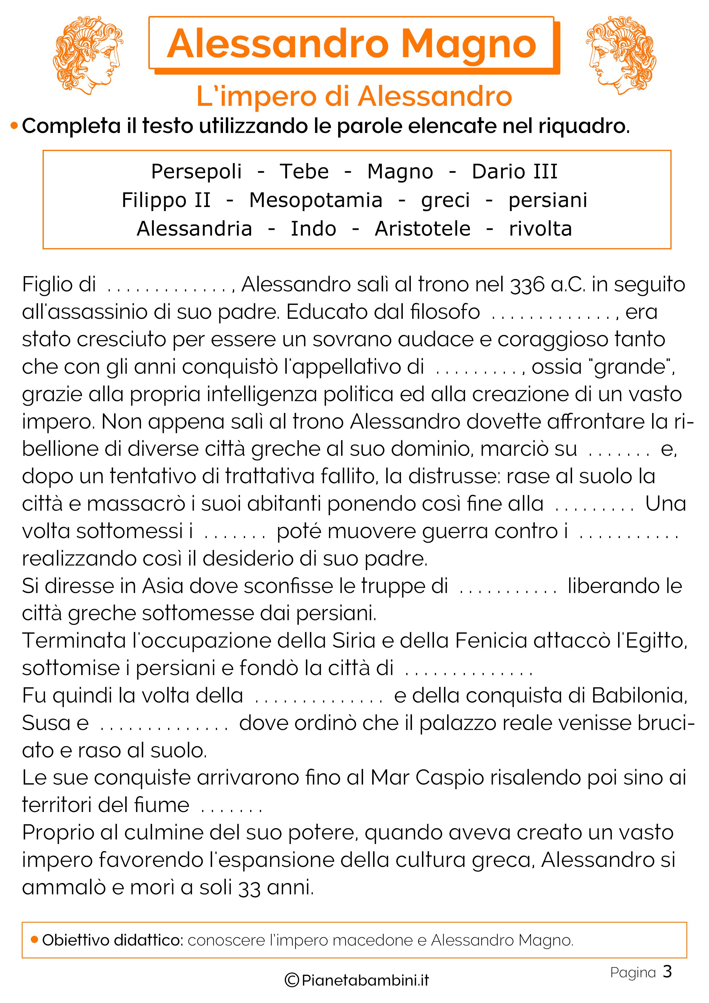 L'impero macedone di Alessandro Magno
