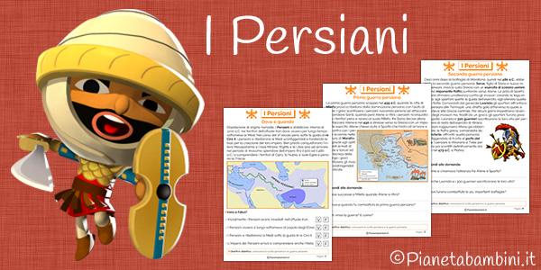 Schede didattiche sui persiani e l'impero persiano