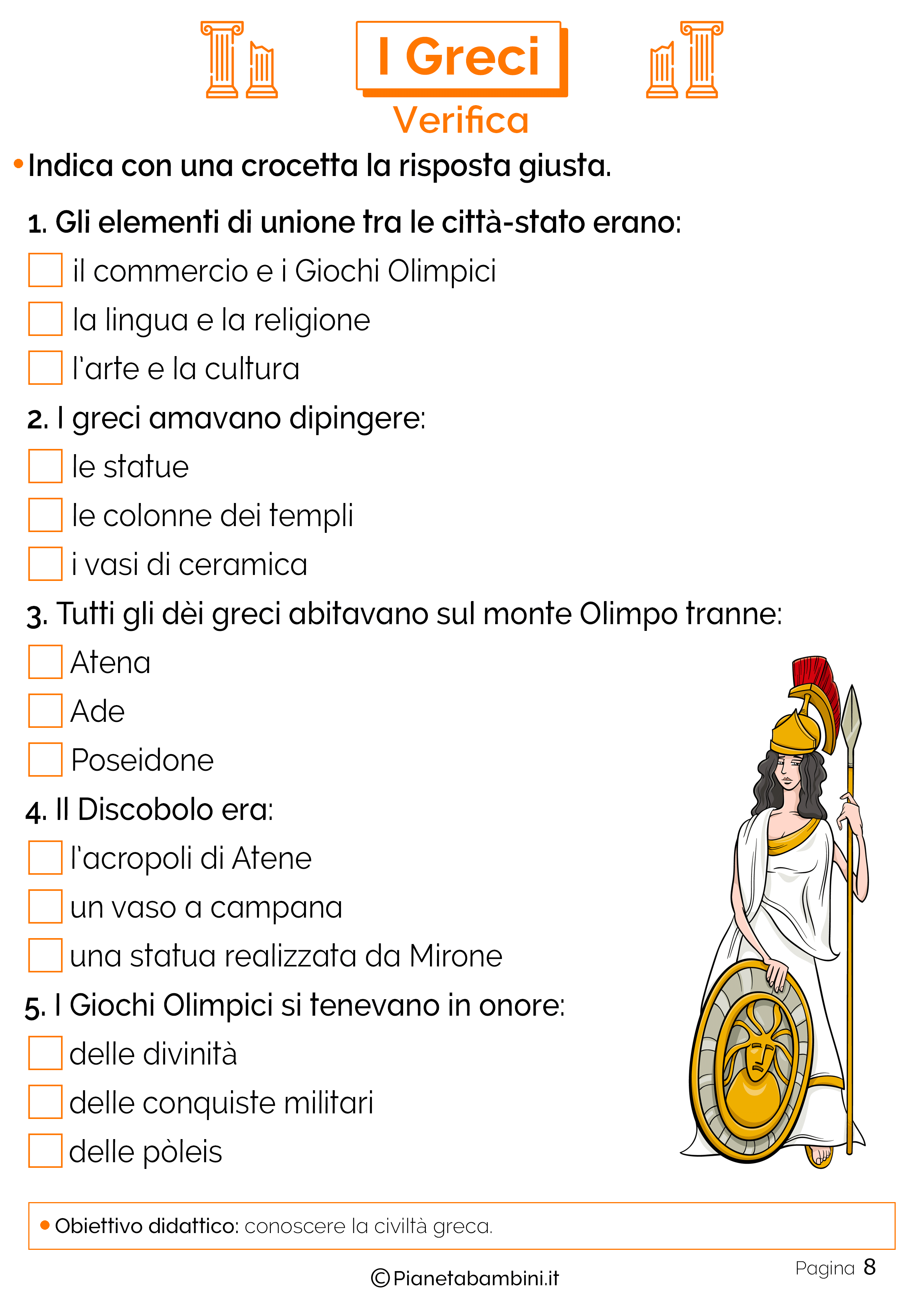 Verifica sui greci