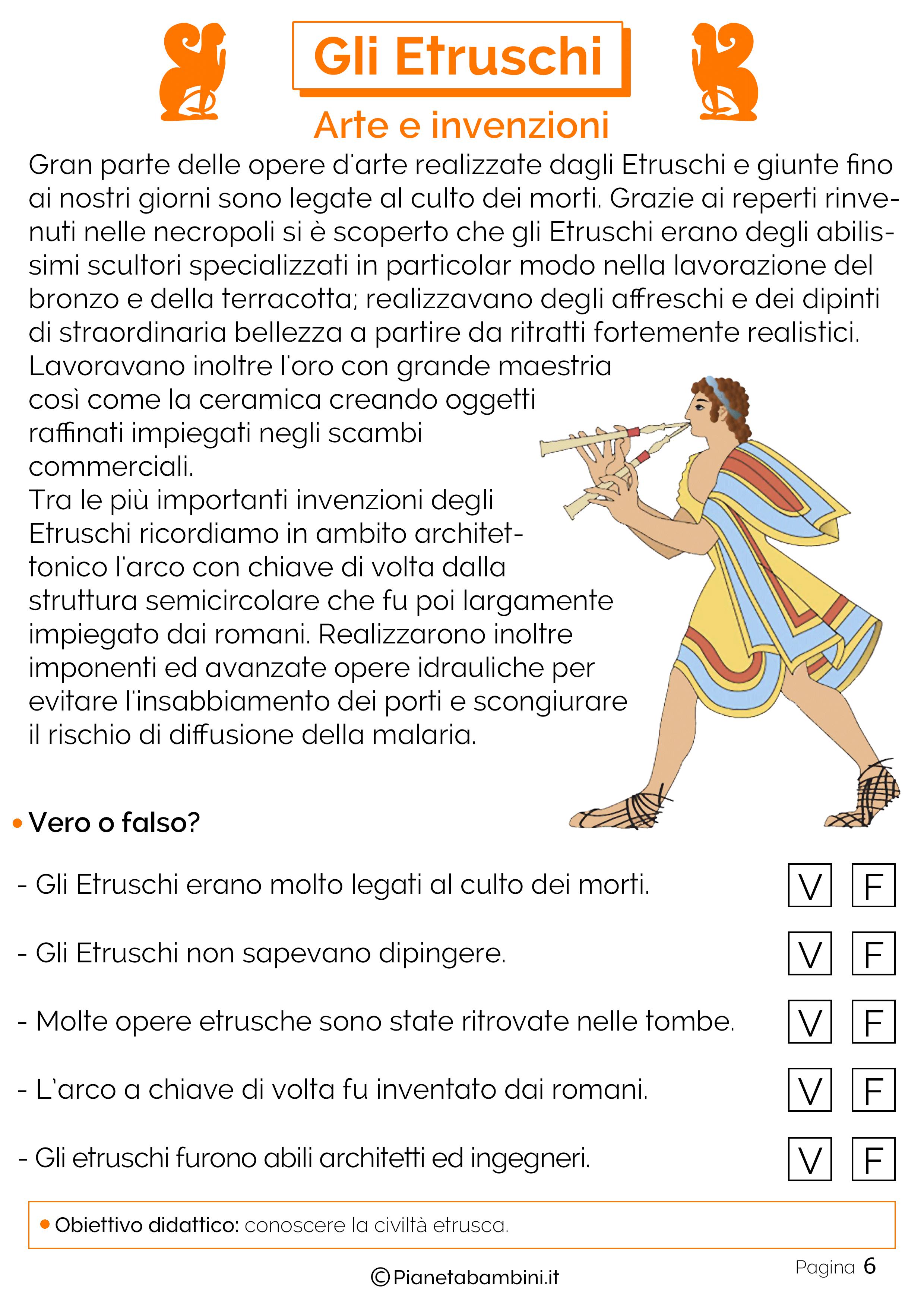 L'arte e le invenzioni degli etruschi