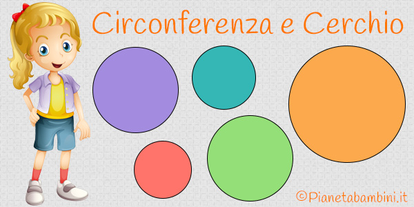 Schede didattiche su circonferenza e cerchio per la scuola primaria