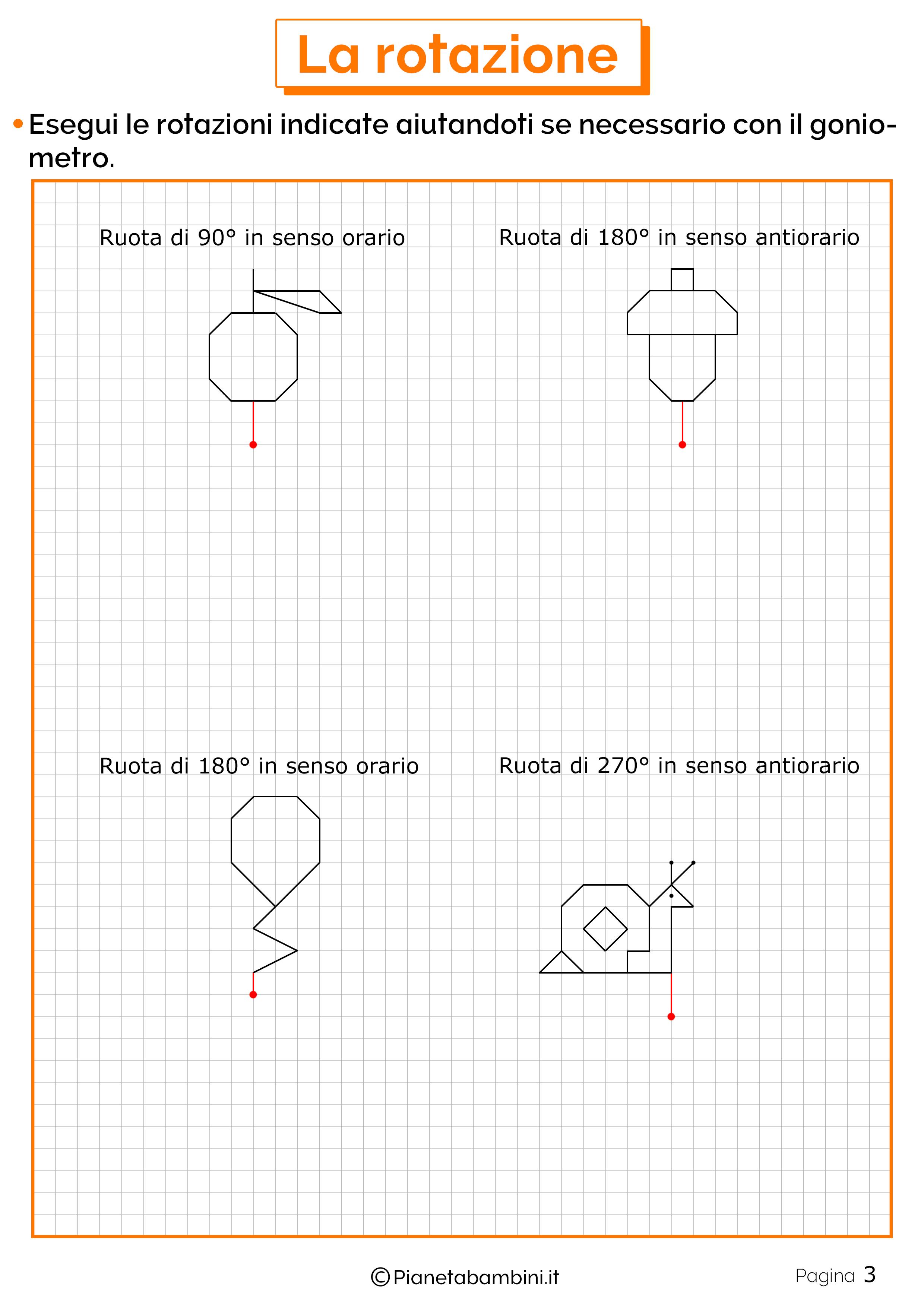 Schede didattiche sulla rotazione 3