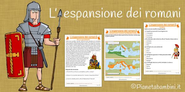 Schede didattiche sull'espansione dei romani per la scuola primaria