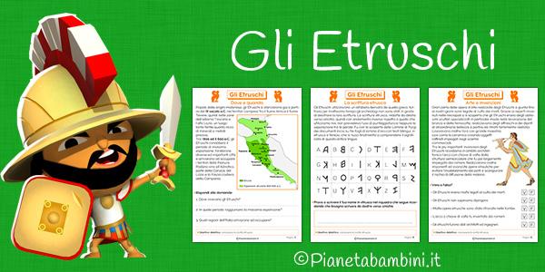 Schede didattiche sugli etruschi per la scuola primaria da stampare gratis