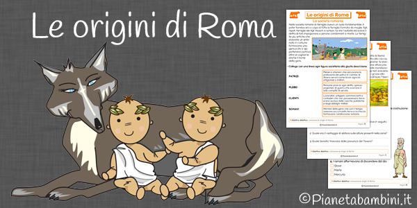 Le origini di Roma esercizi per la scuola primaria