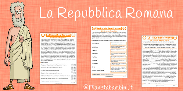 Schede didattiche sulla Repubblica Romana da stampare gratis