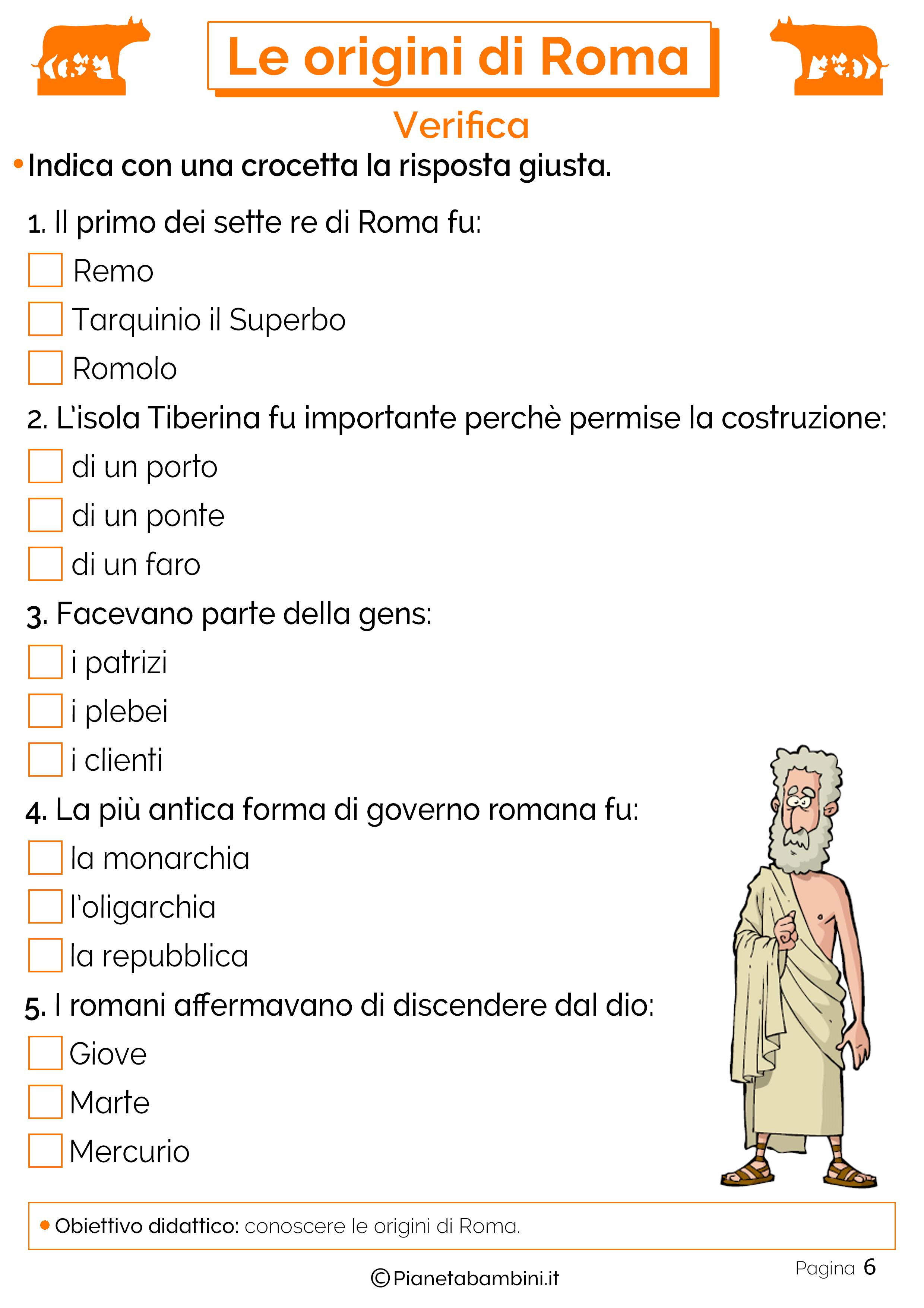 Verifica sulla nascita di Roma