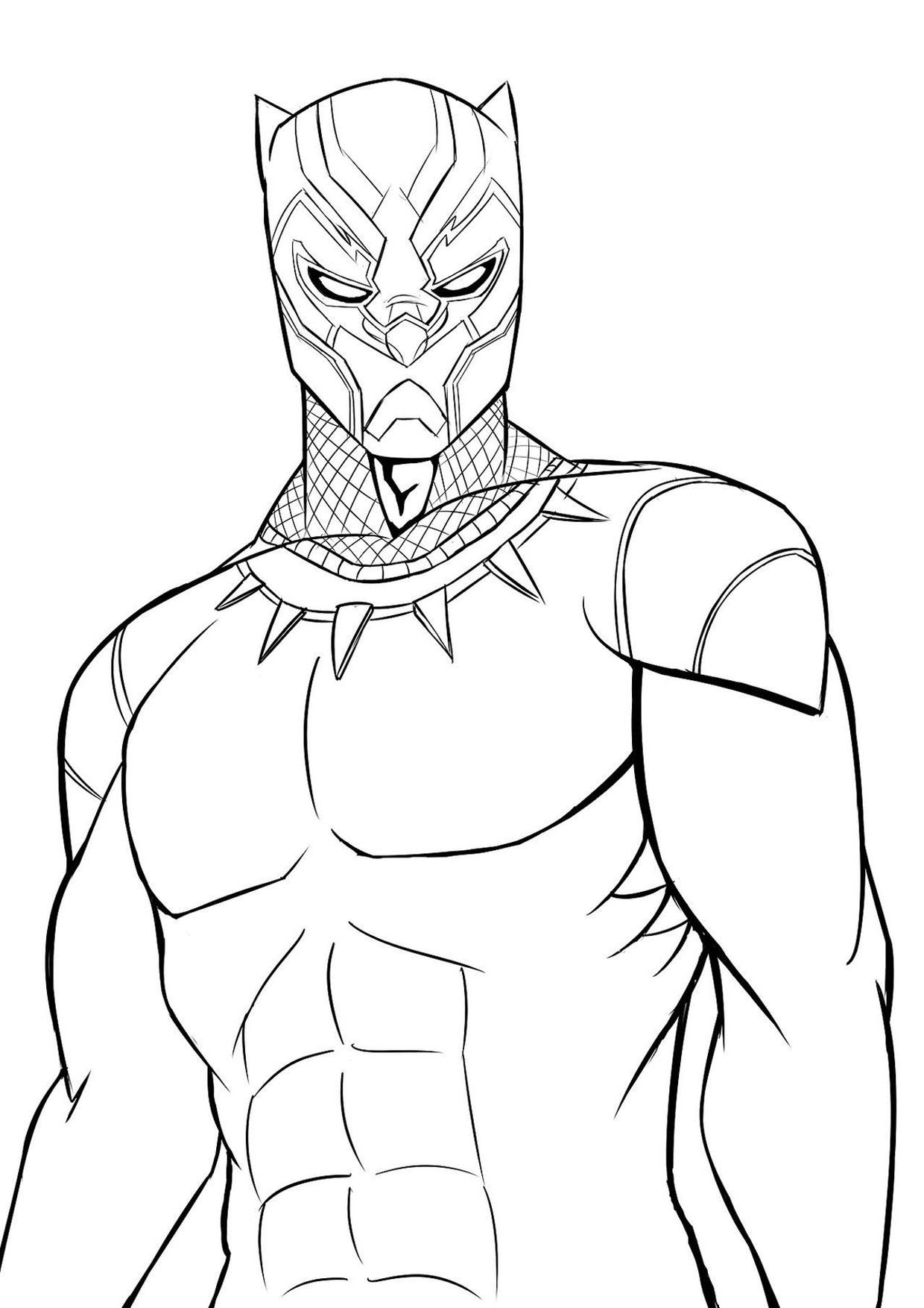 Disegno di Black Panther 02
