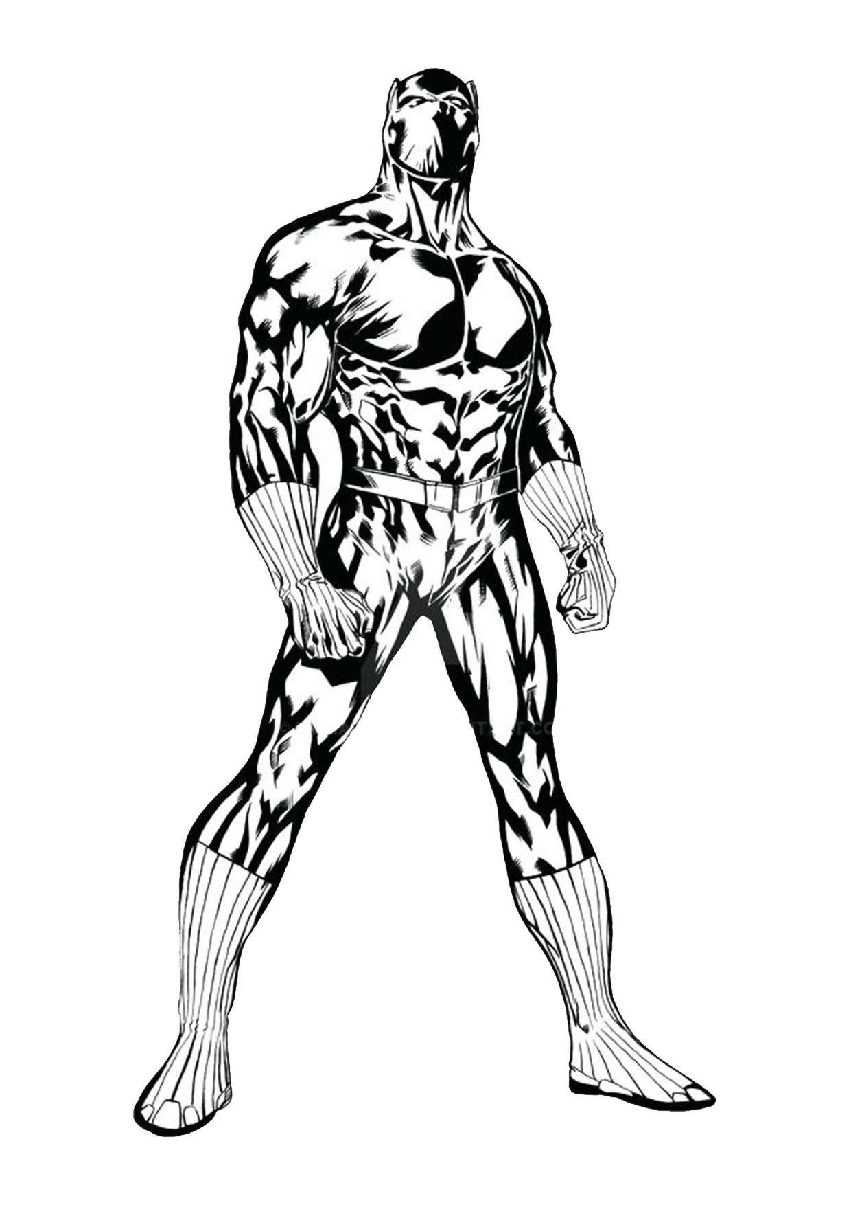 Disegno di Black Panther 04