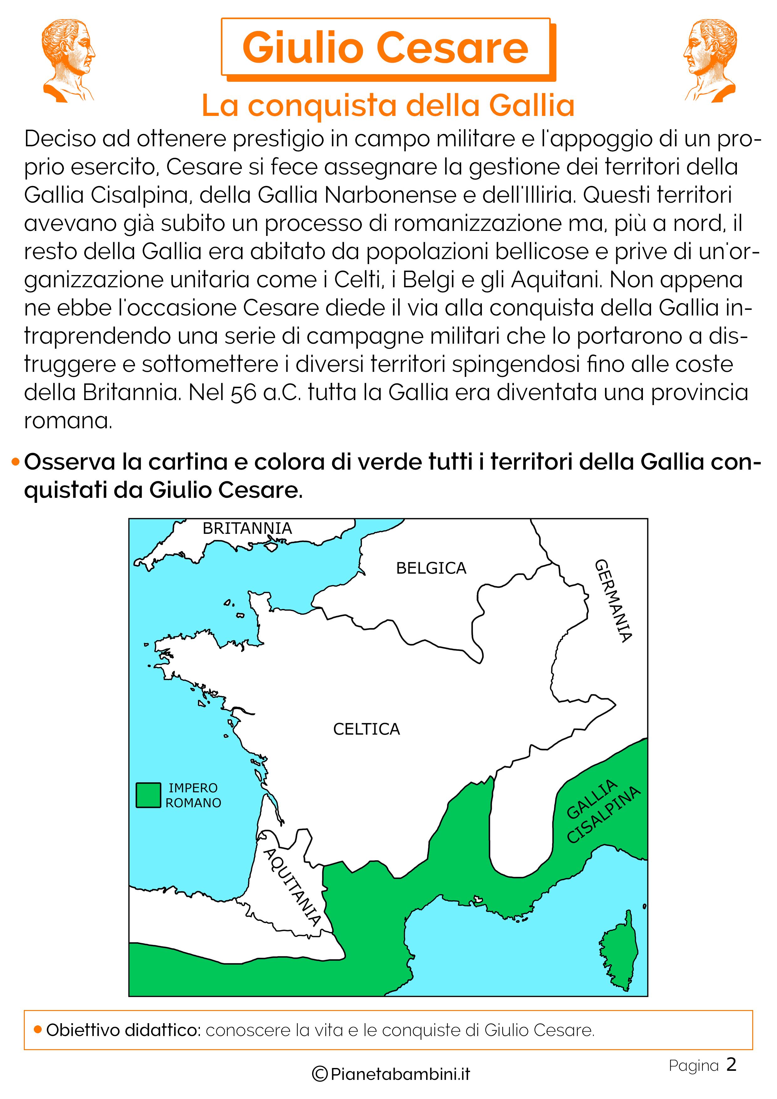 La conquista della Gallia da parte di Giulio Cesare