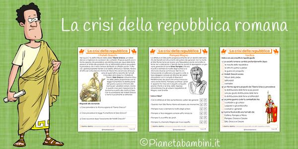Schede didattiche sulla crisi della Repubblica romana da stampare gratis
