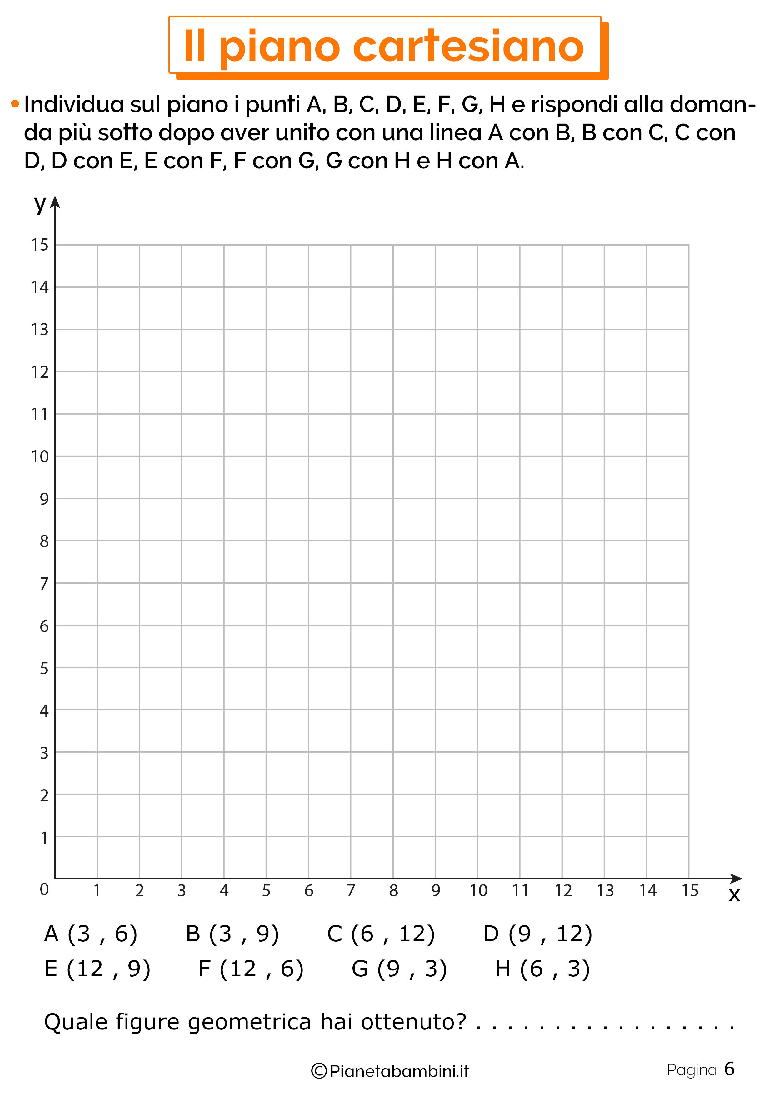 Schede didattiche sul piano cartesiano 6