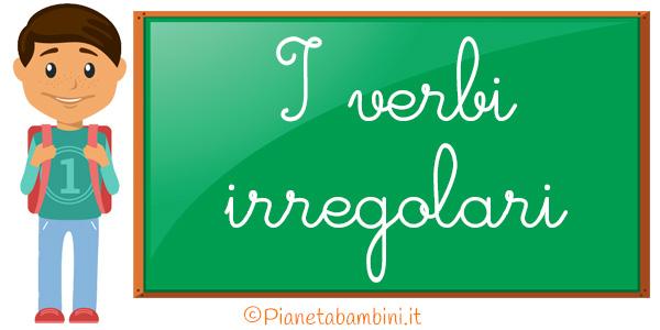 Schede didattiche sui verbi irregolari