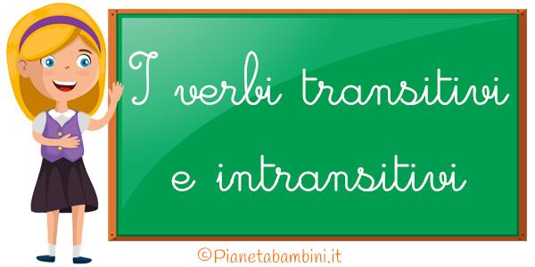 Esercizi sui verbi transitivi e intransitivi da stampare gratis