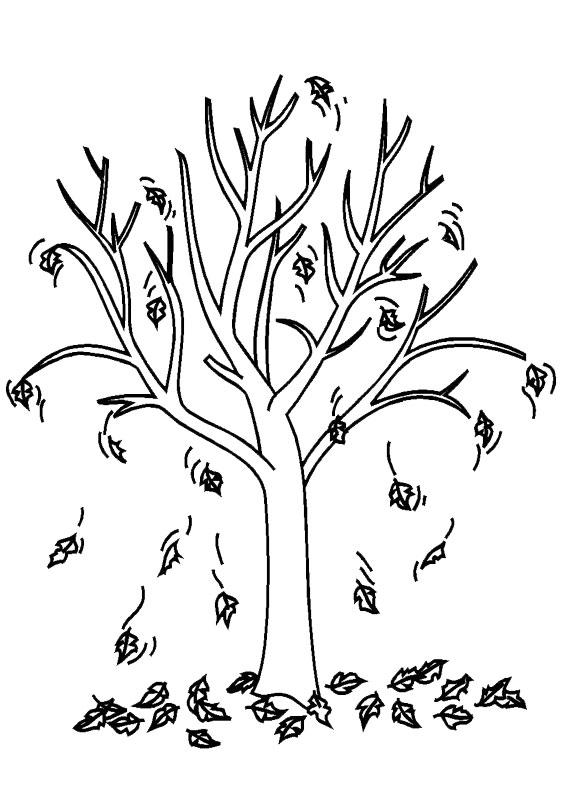 Disegno di albero autunnale da colorare 07