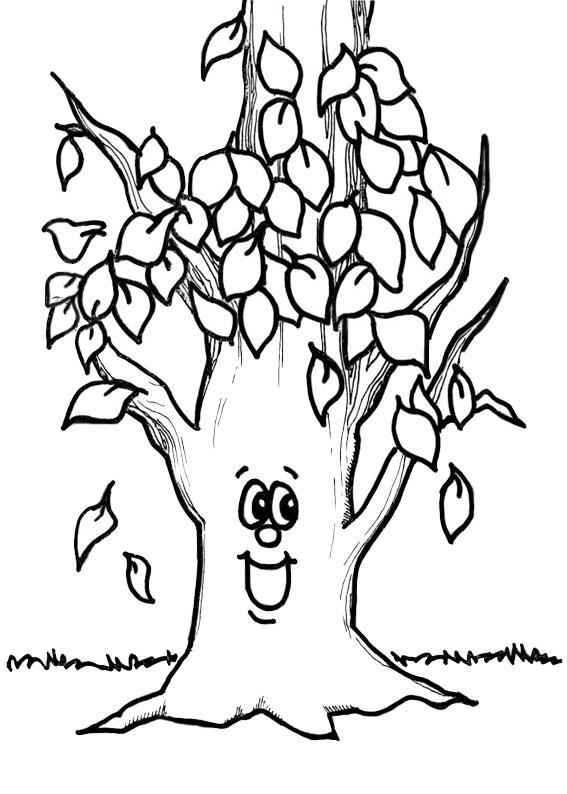 Disegno di albero autunnale da colorare 10