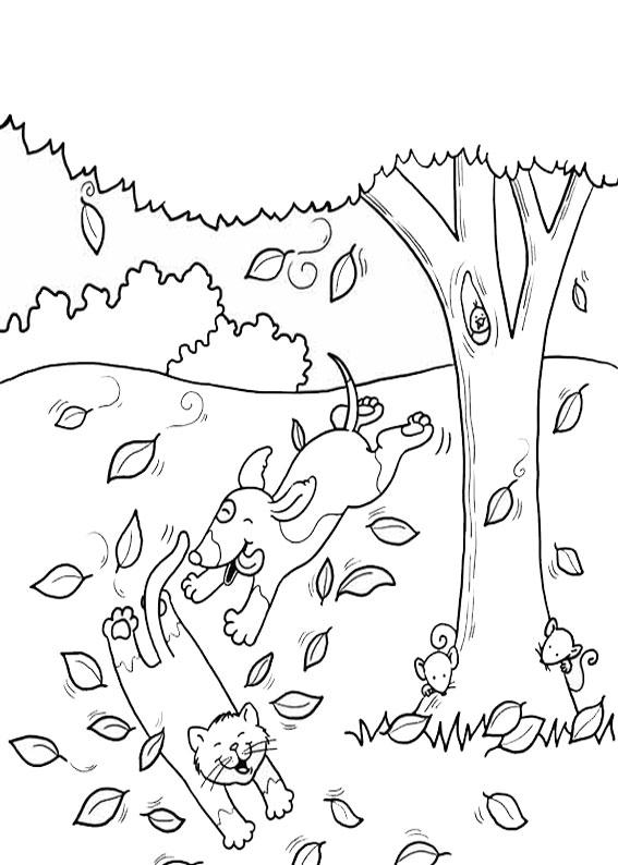 Disegno di albero autunnale da colorare 11
