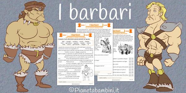 Schede didattiche sulle invasioni barbariche per la scuola primaria da stampare gratis