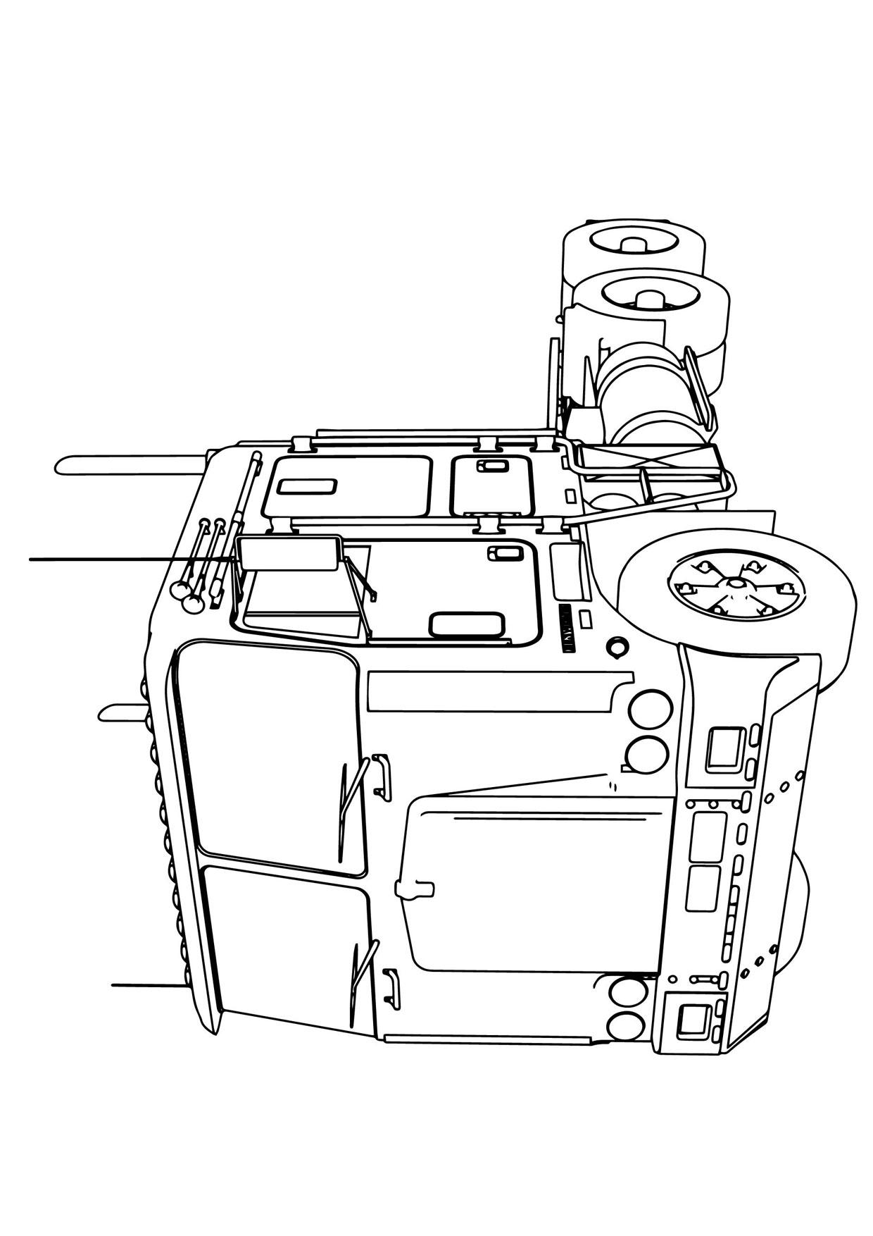 Disegno di camion da colorare 05
