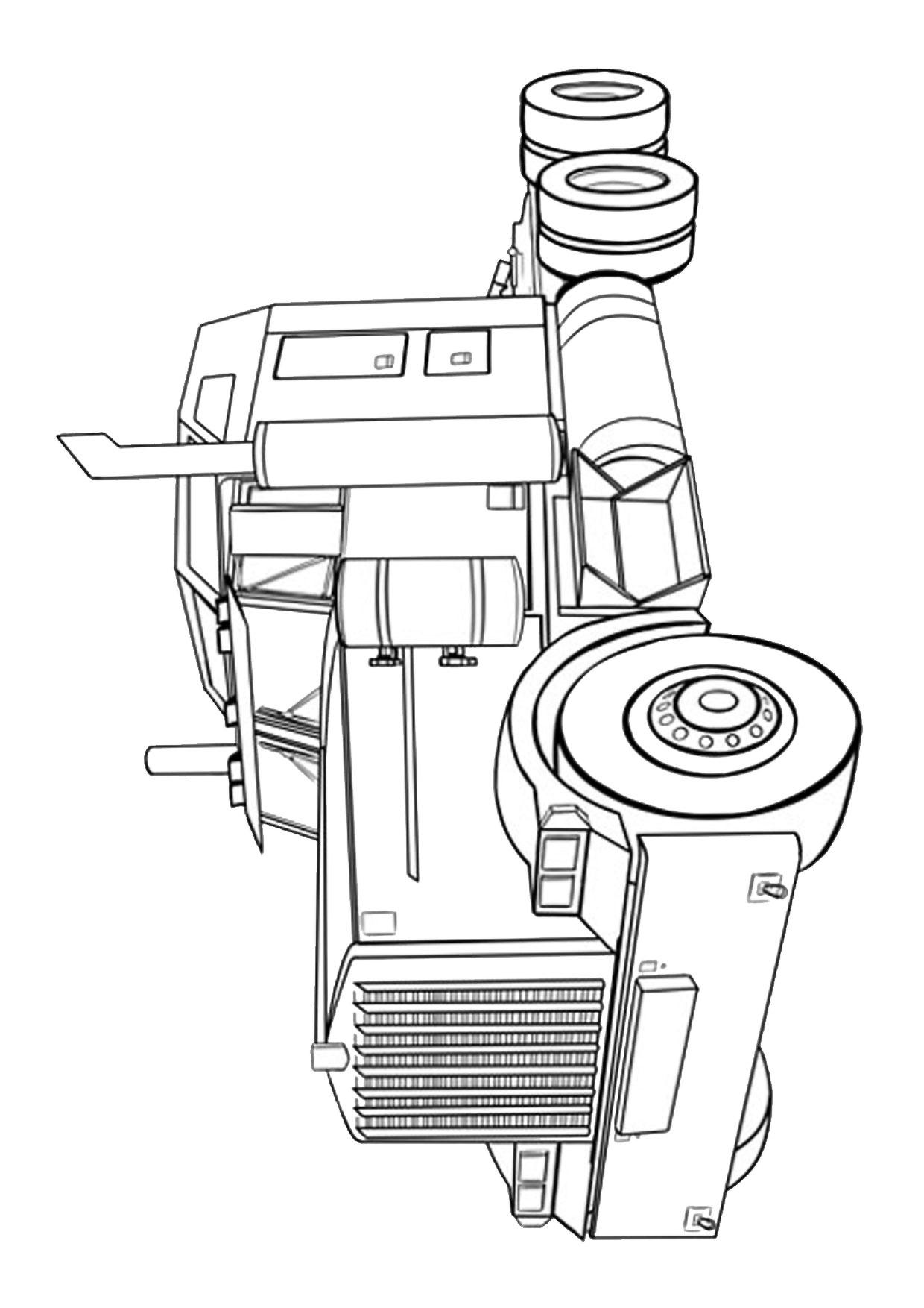 Disegno di camion da colorare 07