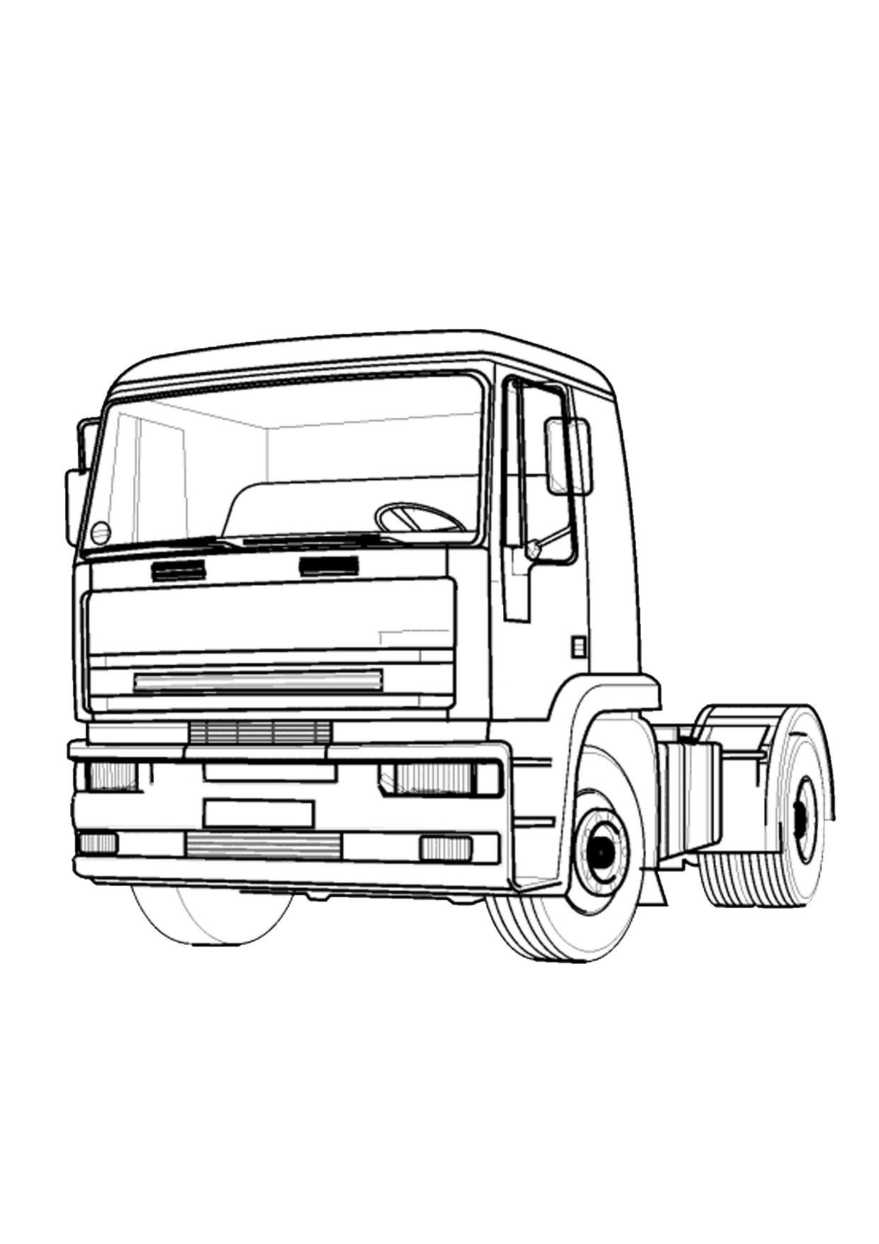 Disegno di camion da colorare 08