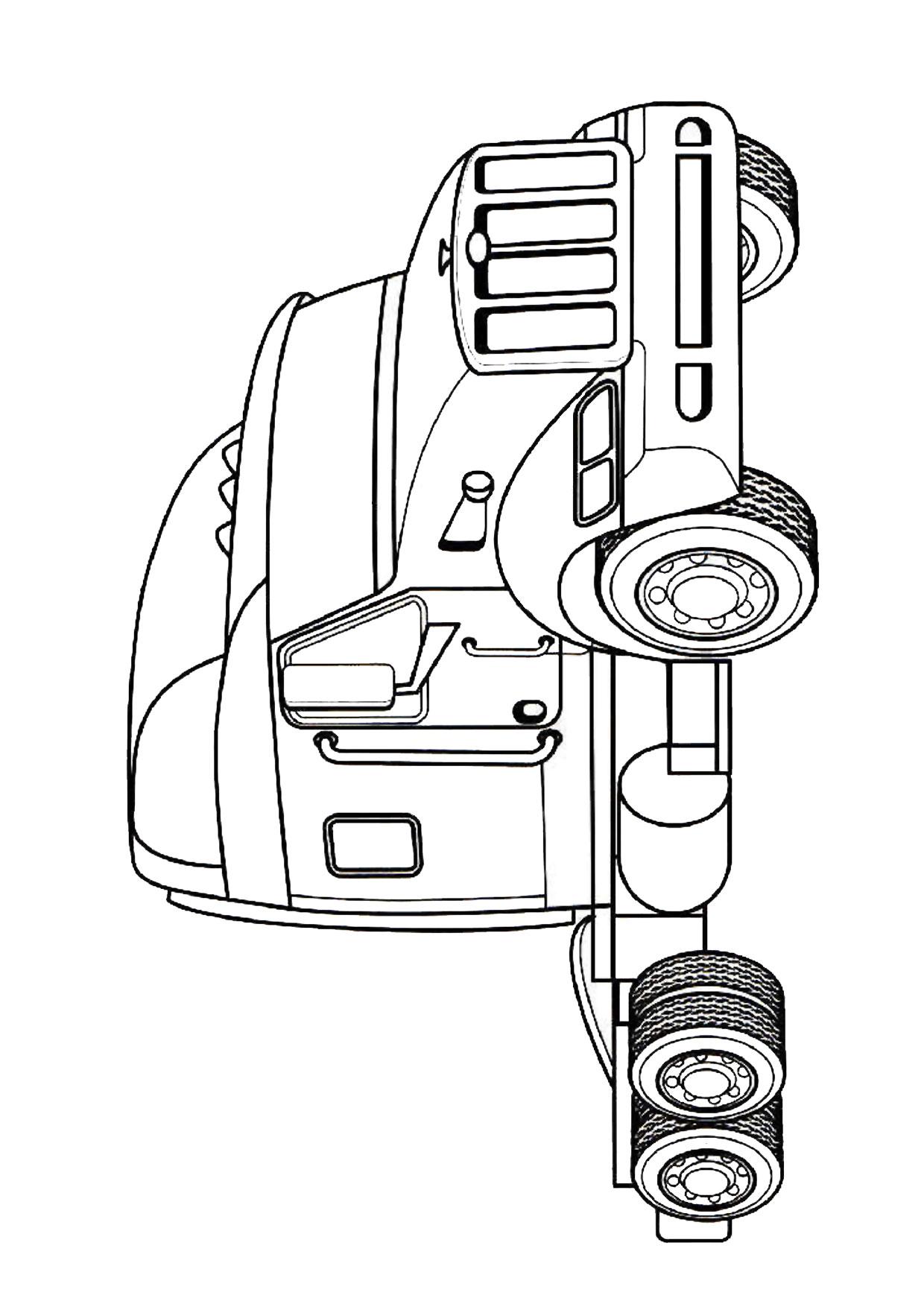 Disegno di camion da colorare 11