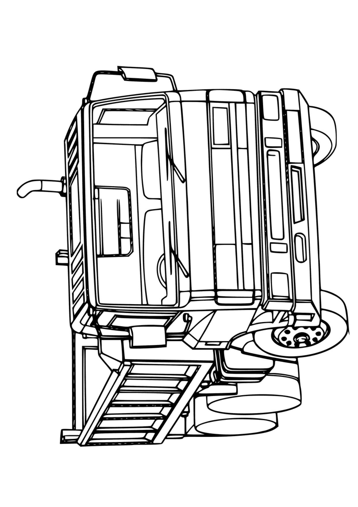Disegno di camion da colorare 18