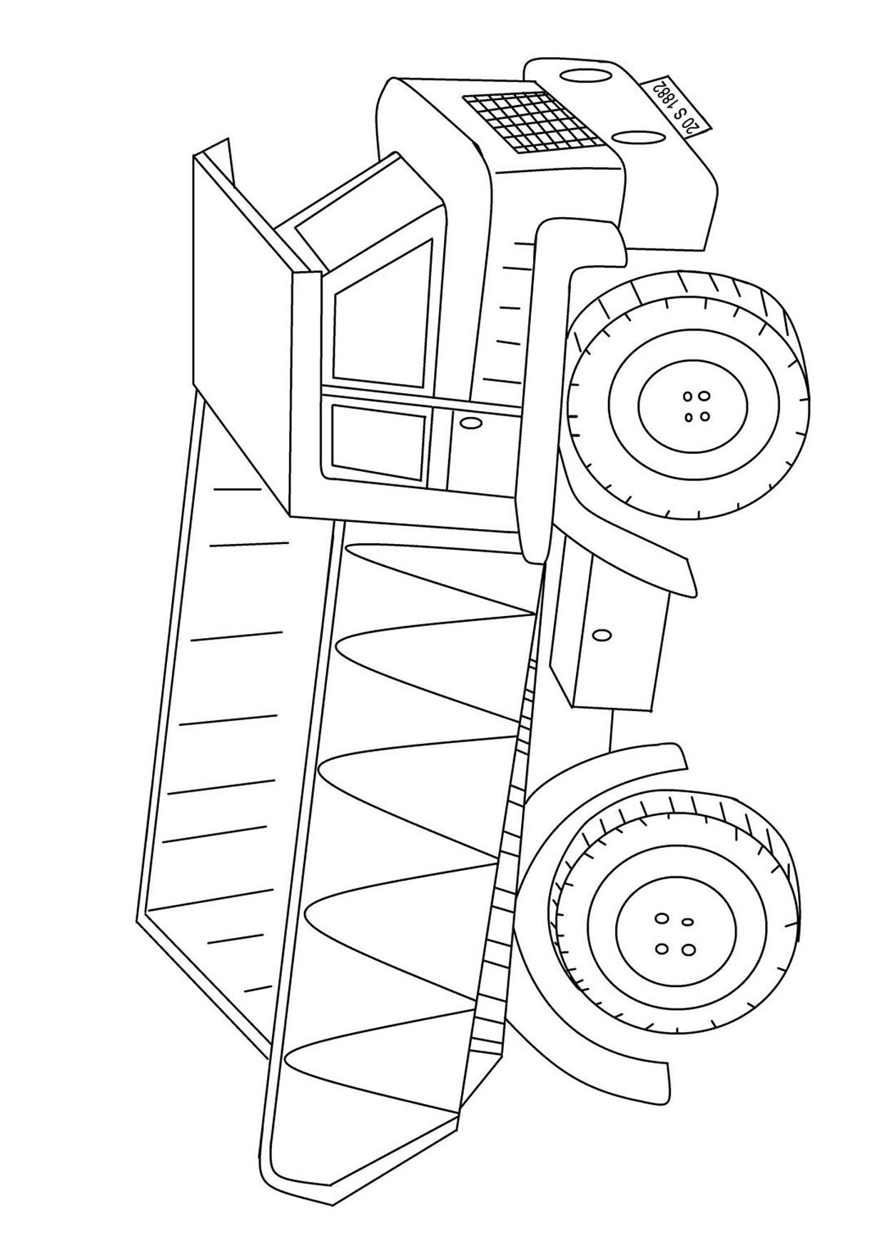 Disegno di camion da colorare 21